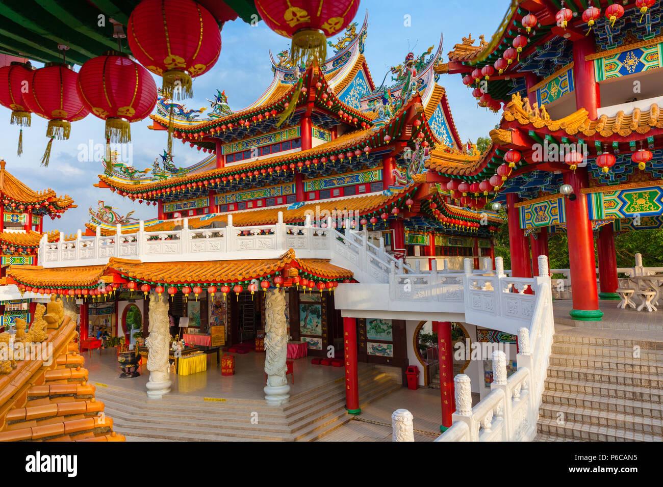Decorazioni Con Lanterne Cinesi : Thean hou tempio decorato con rosso lanterne cinesi kuala lumpur