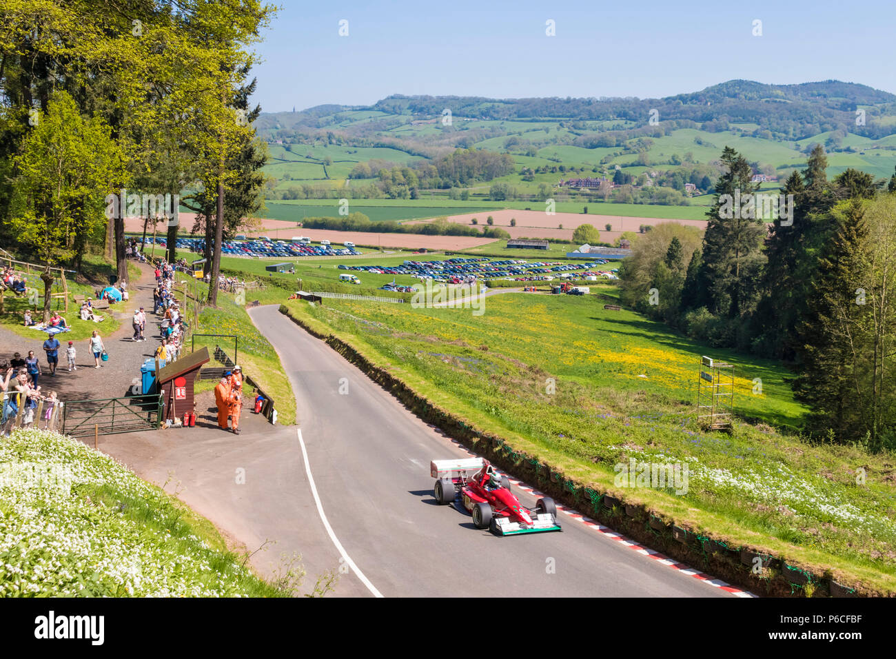 Shelsley Walsh hillclimb velocità Shelsley Walsh hill climb worcestershire Immagini Stock