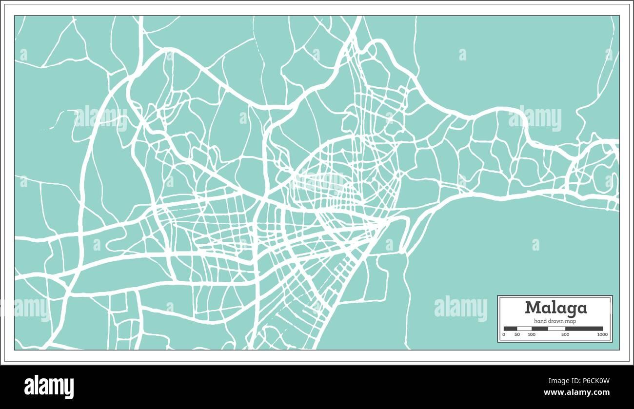 Malaga Spagna Cartina.Malaga Spagna Mappa Della Citta In Stile Retro Mappa Di Contorno Illustrazione Vettoriale Immagine E Vettoriale Alamy