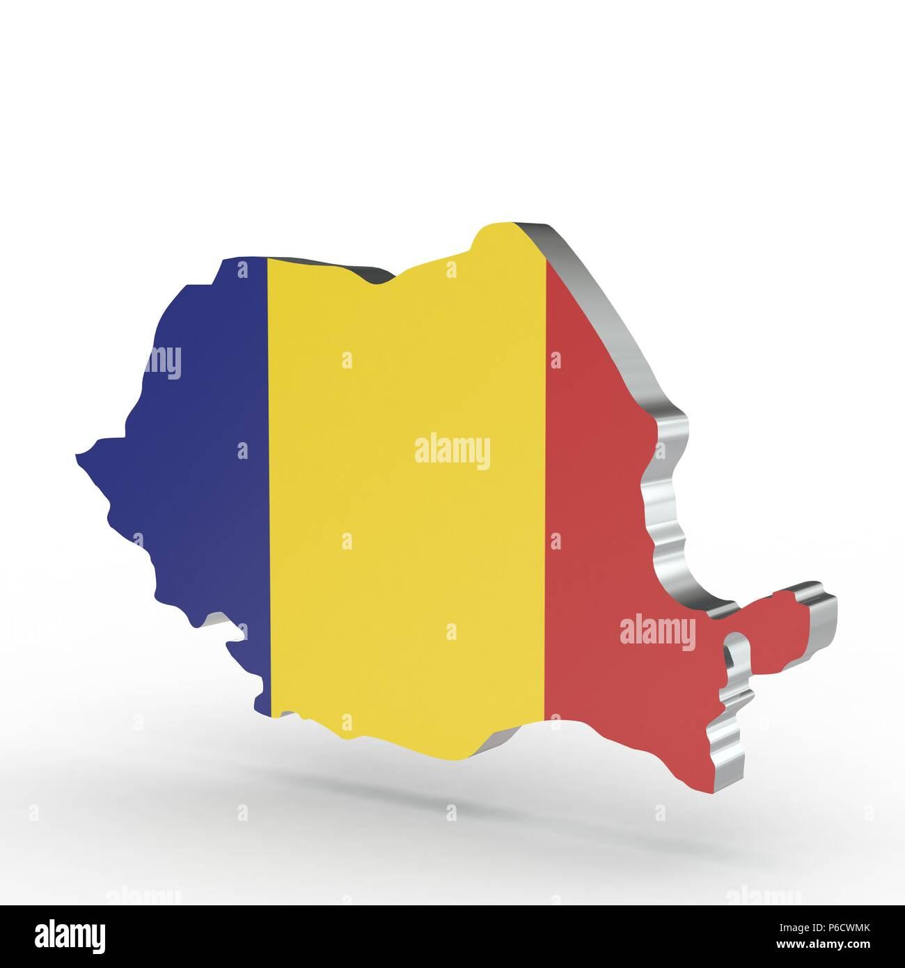 Cartina Geografica Fisica Della Romania.Europa Mappa 3d Di Romania Isolati Su Sfondo Bianco Foto Stock Alamy