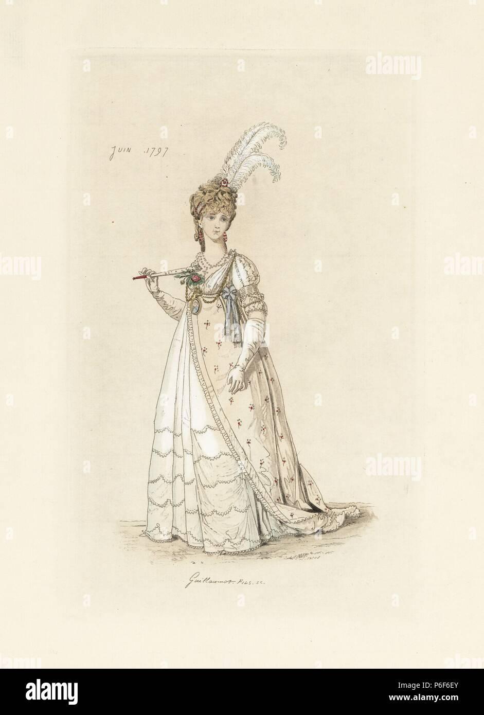 buy popular b3eda 7776e Donna inglese nella moda del giugno 1797. Indossa un ...