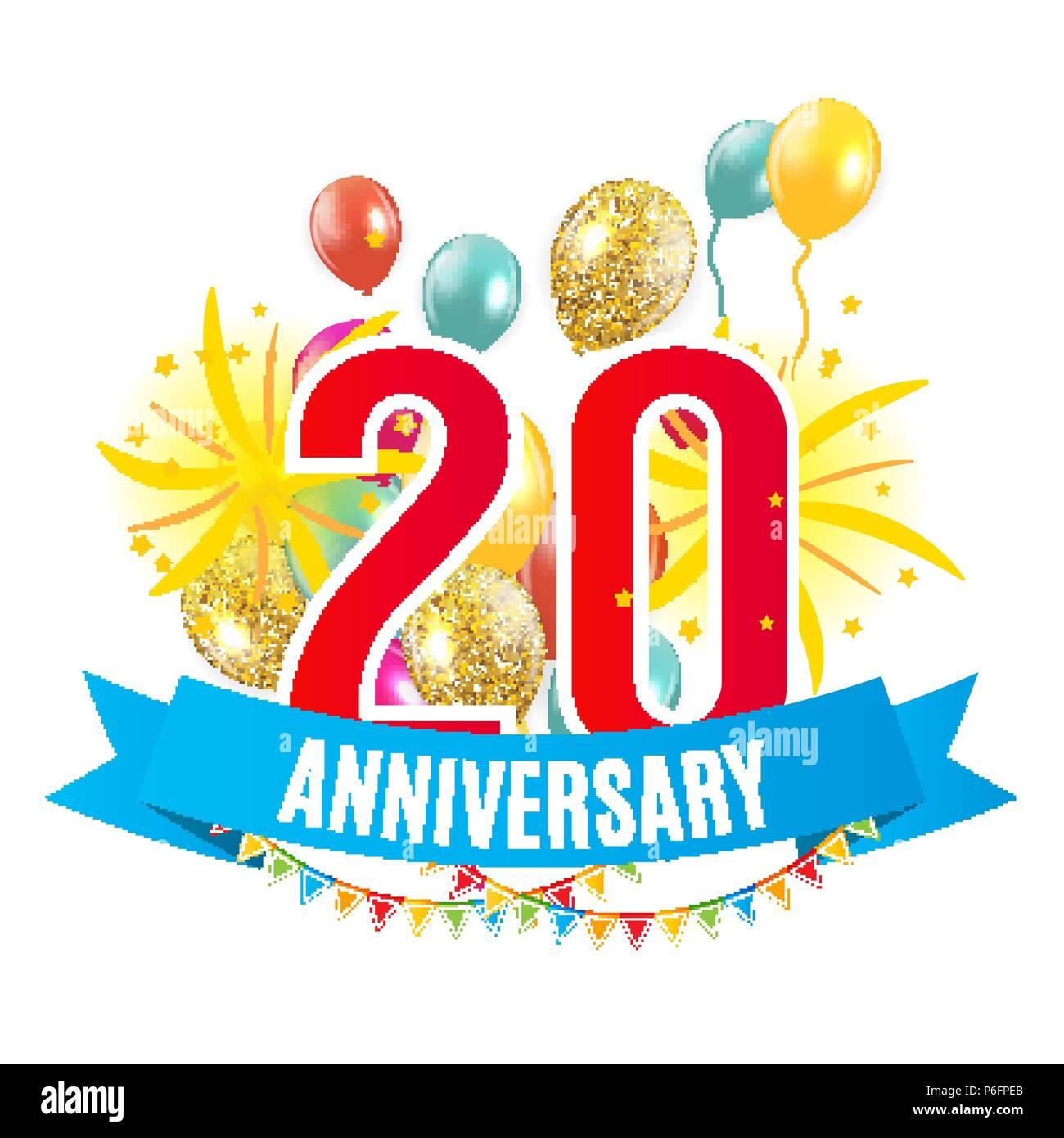 Anniversario Matrimonio Venti Anni.Dima 20 Anni Di Anniversario Congratulazioni Biglietto Di Auguri