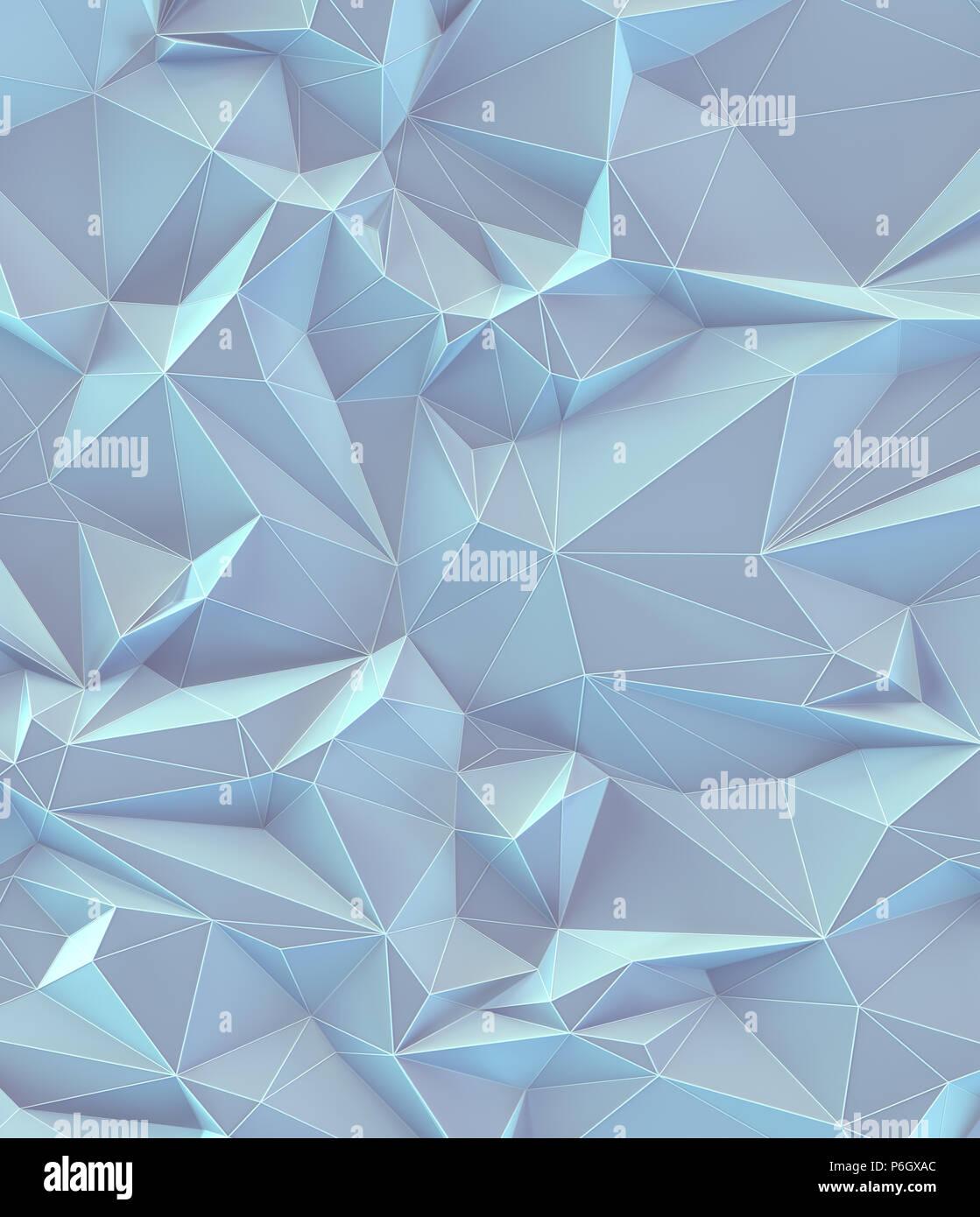 3D'illustrazione. Abstract immagine di sfondo, collegamenti in linee geometriche e di forma triangolare. Vintage colorati pastello. Immagini Stock
