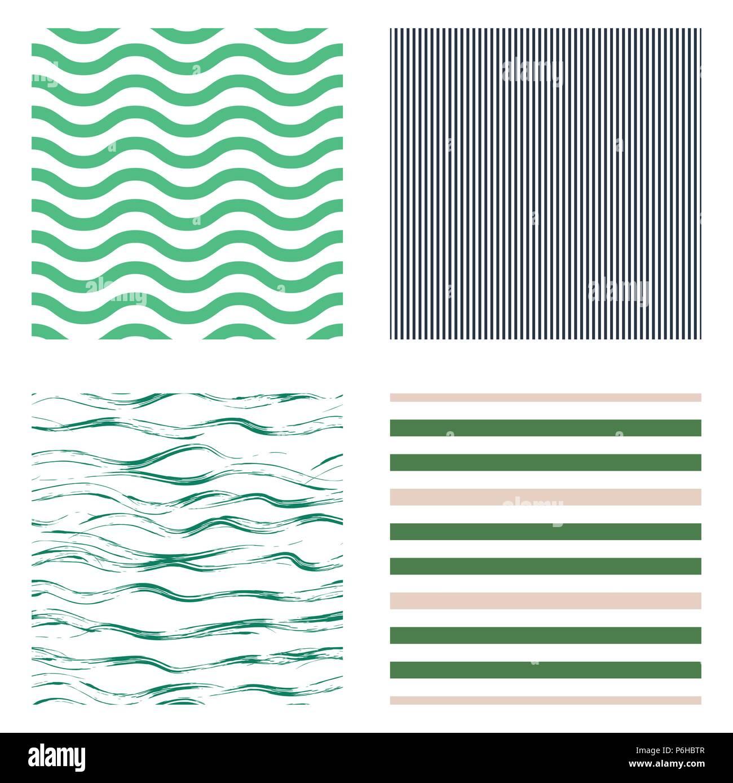 Carta Da Parati Tessuto modello senza giunture stripe set design per la carta da