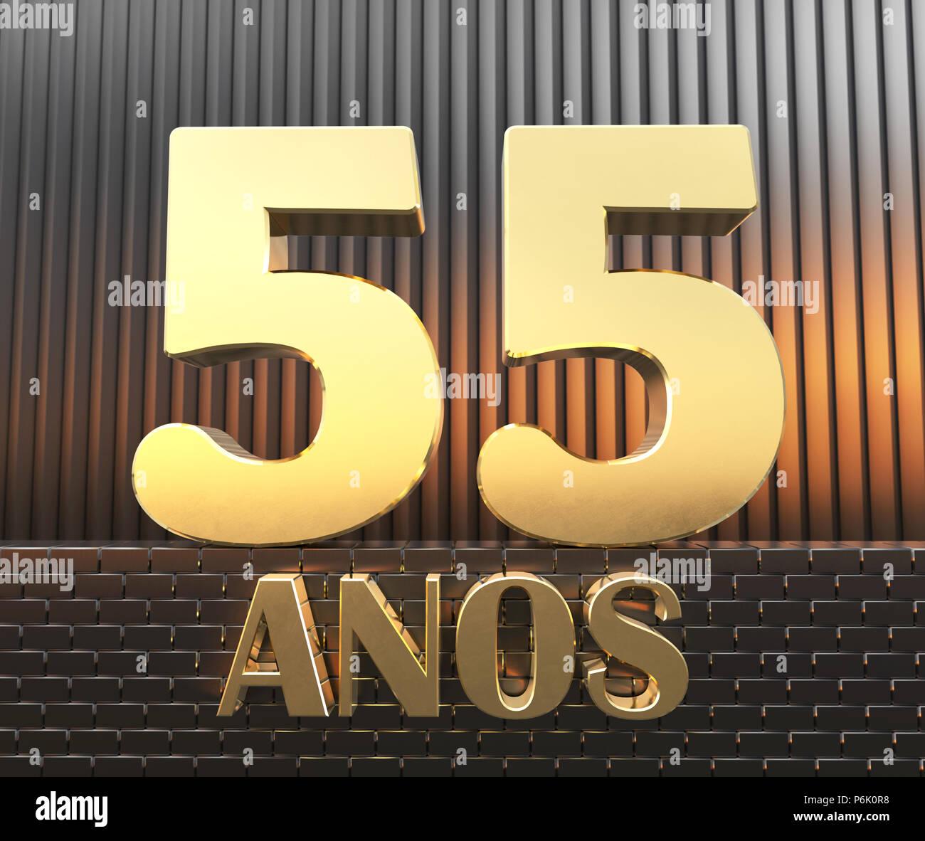 76fabcb1d72a4 Golden numero cinquanta cinque (numero 55) e la parola