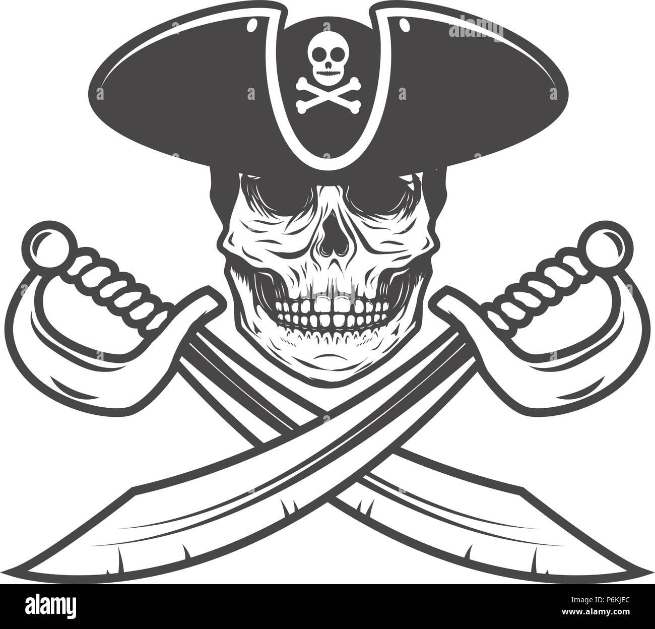 Immagini Di Teschio Pirati il teschio pirata con sciabole incrociate. elemento di