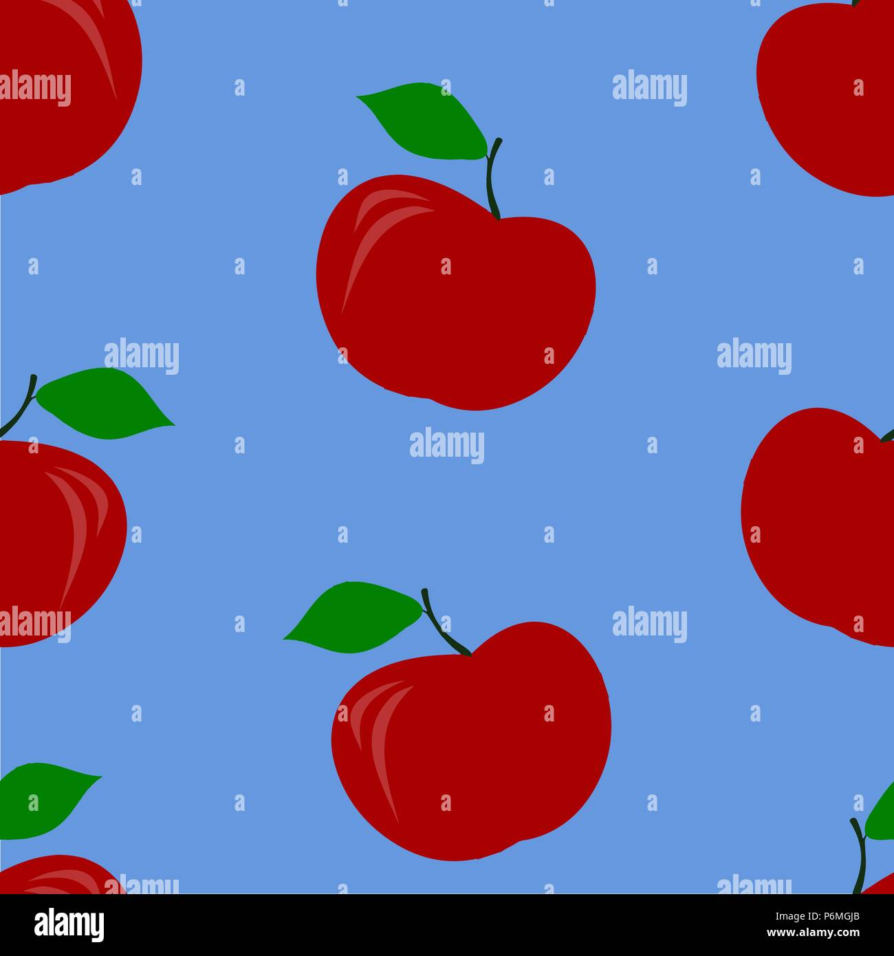 Rosso Modello Di Apple Senza Giunture Illustrazione Vettoriale Gli