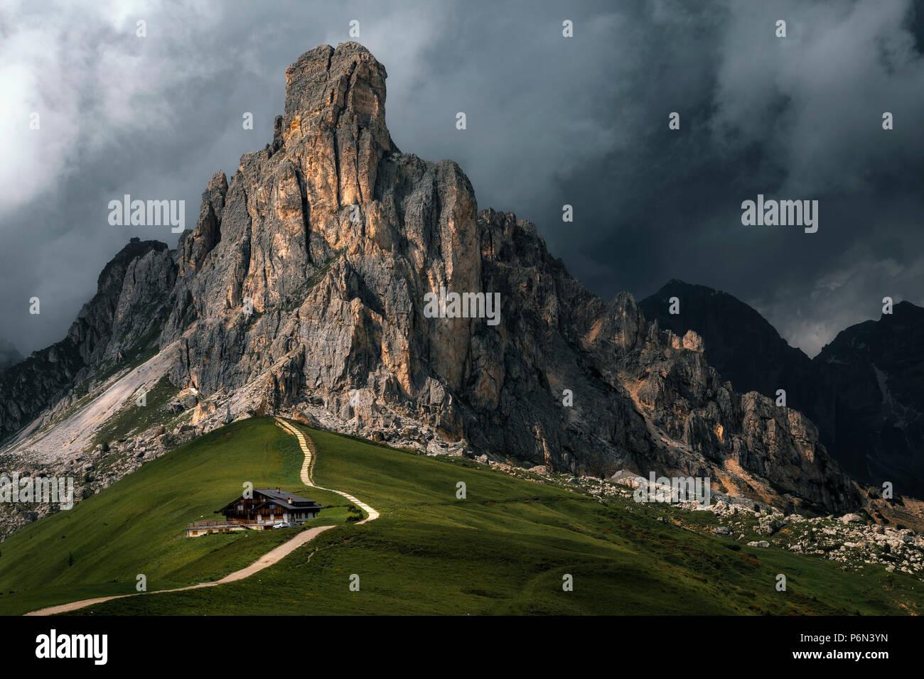 Il passo di Giau, Veneto, Dolomiti, Italia, Europa Immagini Stock