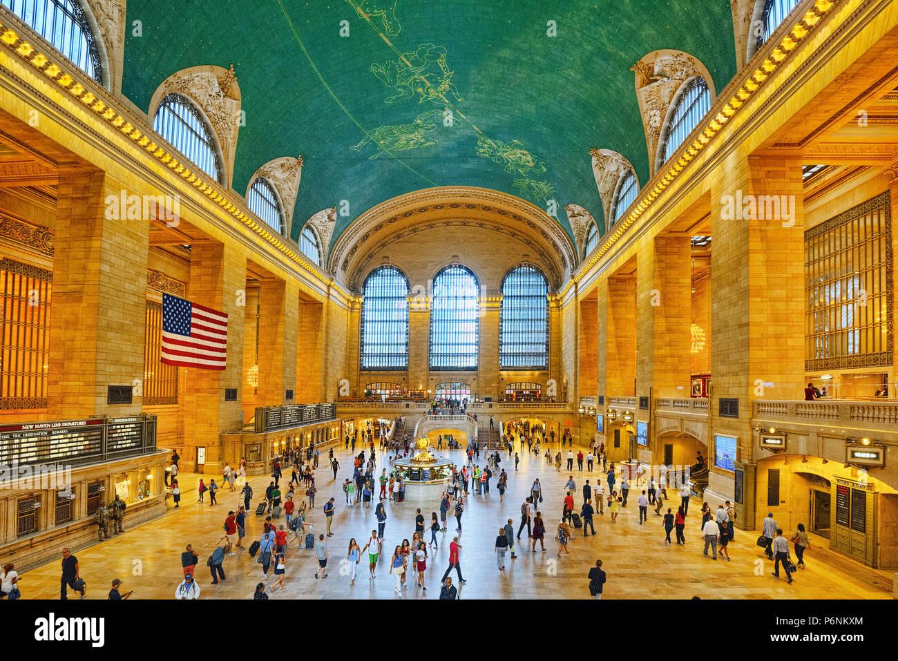 New York, Stati Uniti d'America - 05 Settembre 2017 : Grand Central Terminal- terminale ferroviario a 42nd Street e Park Avenue nel centro di Manhattan a New York City, U Immagini Stock