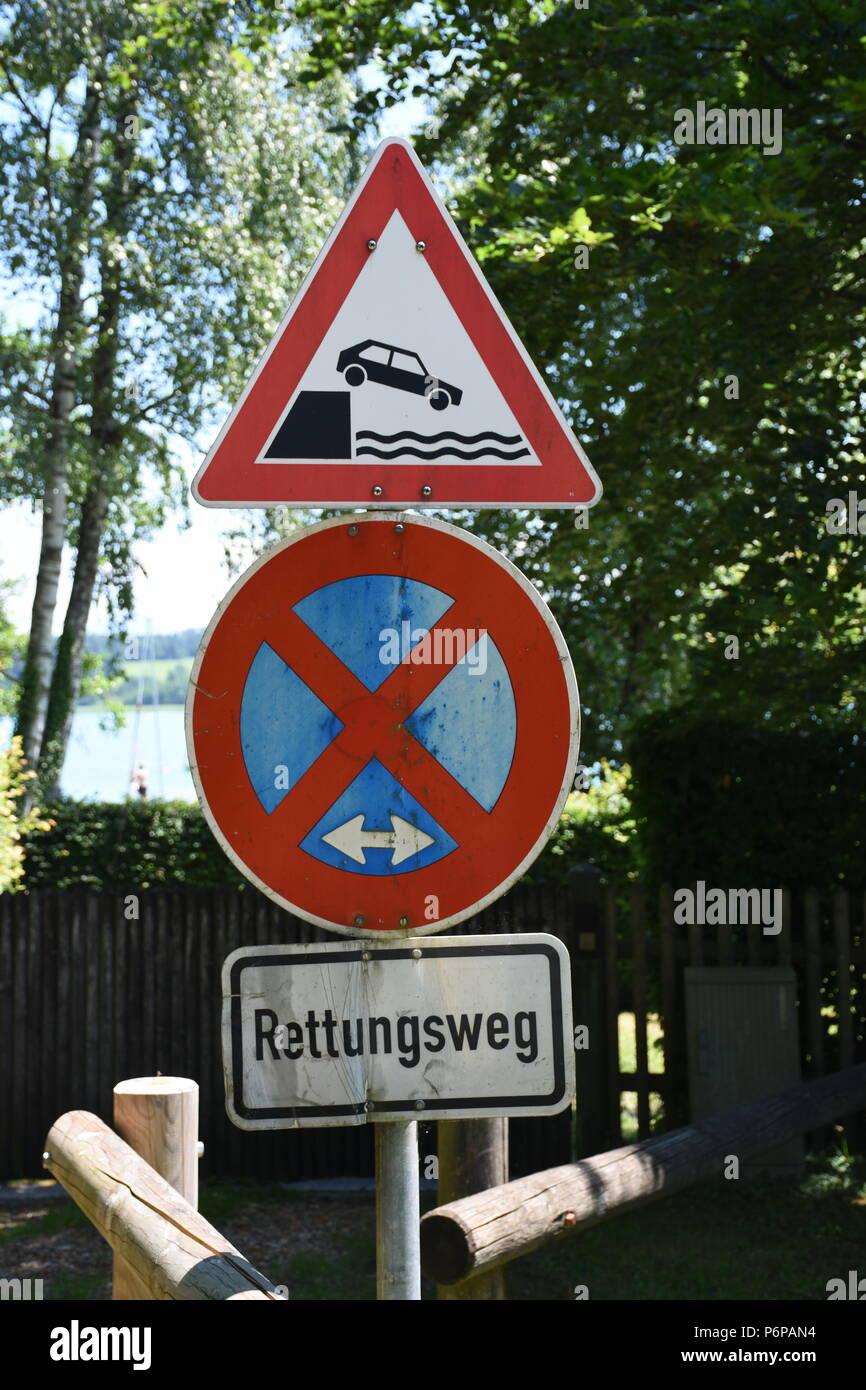 Verkehrszeichen, Schild, Tafel, Hinweis, Verkehr Immagini Stock