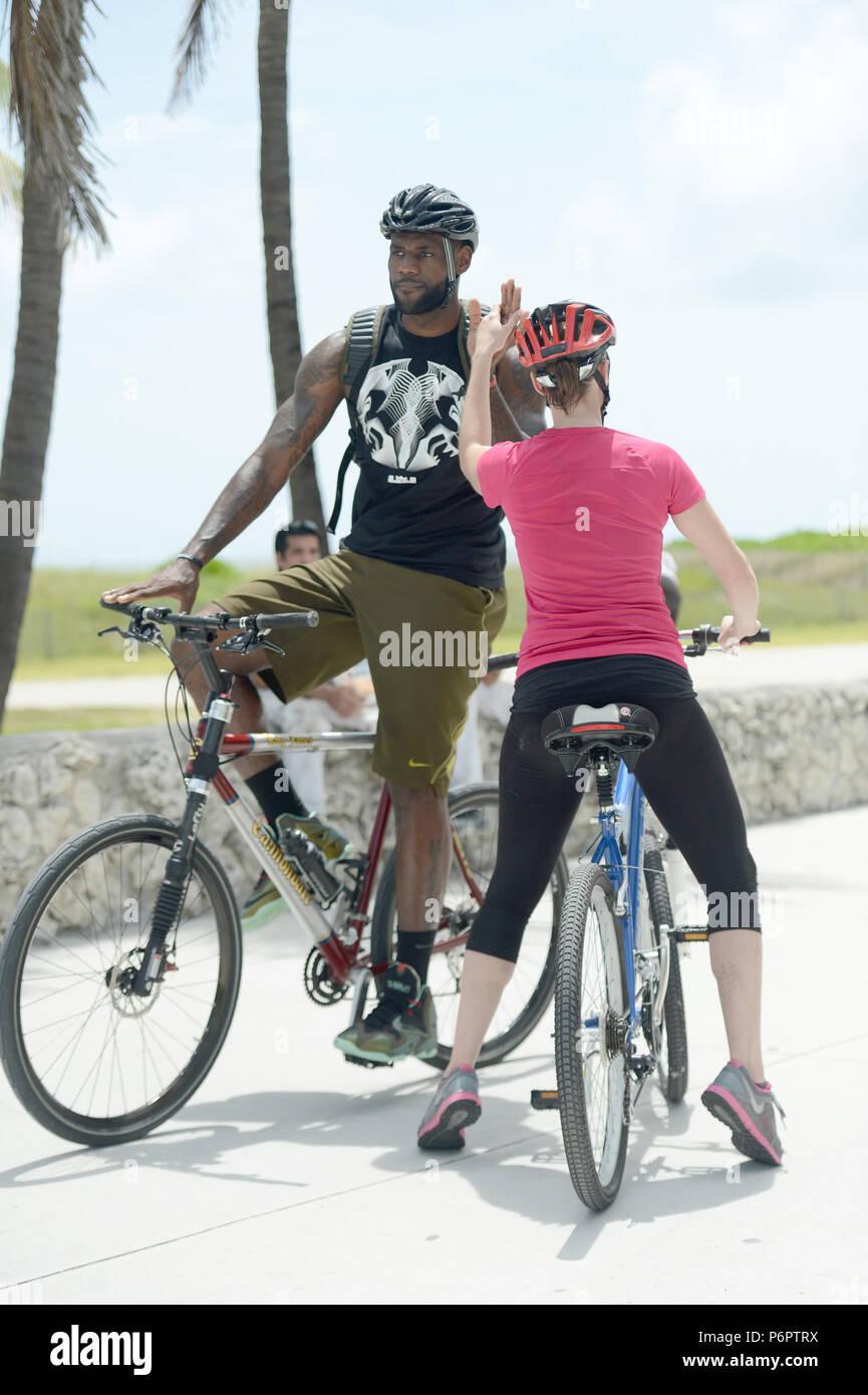 Miami Beach Fl 16 Agosto Lebron James Ha Dimostrato Fino Alla