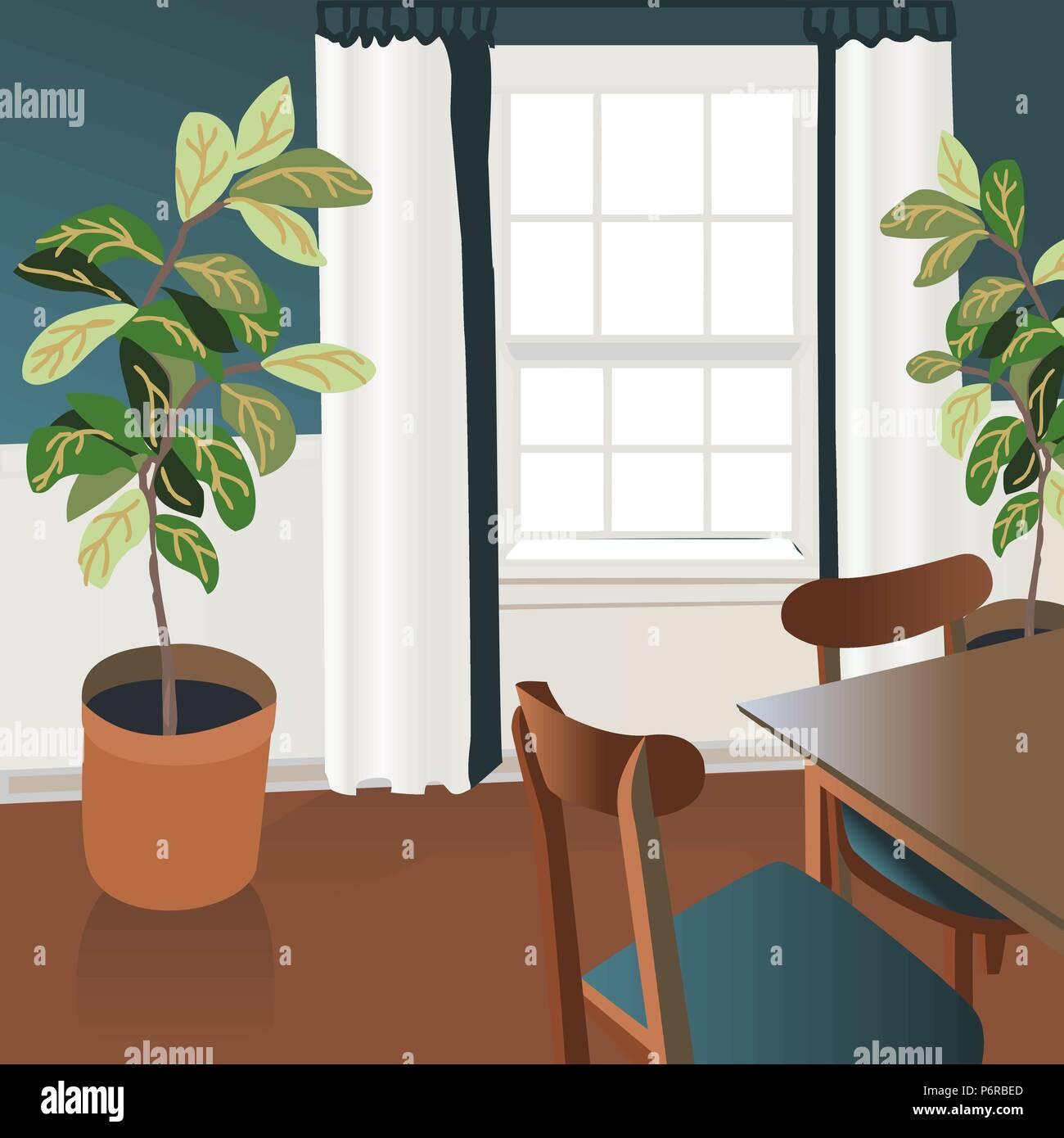 Interior design illustrazione sketch. Soggiorno moderno stile alla ...