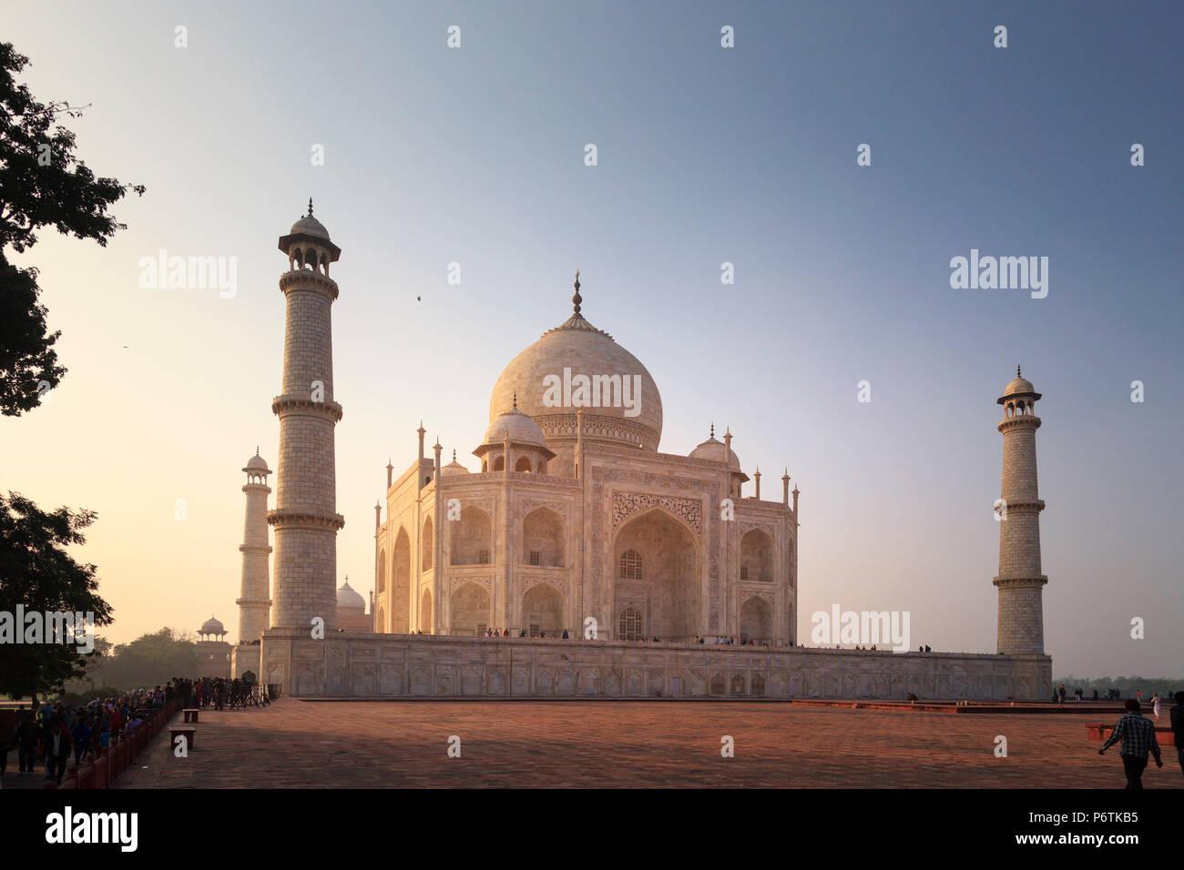 India, Uttar Pradesh, Agra il Taj Mahal (Sito UNESCO) Immagini Stock