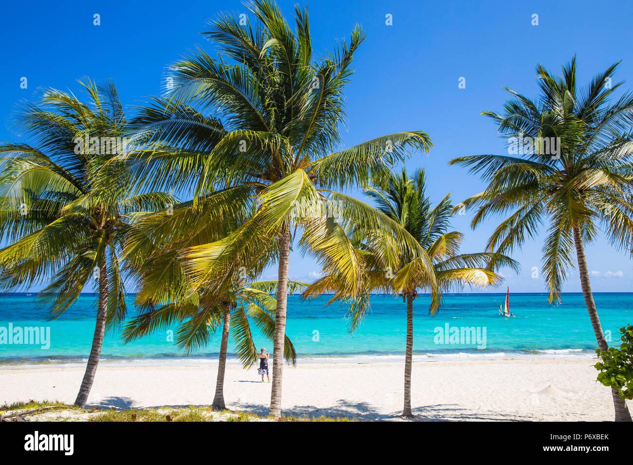 Cuba, Holguín, Playa Esmeralda Immagini Stock