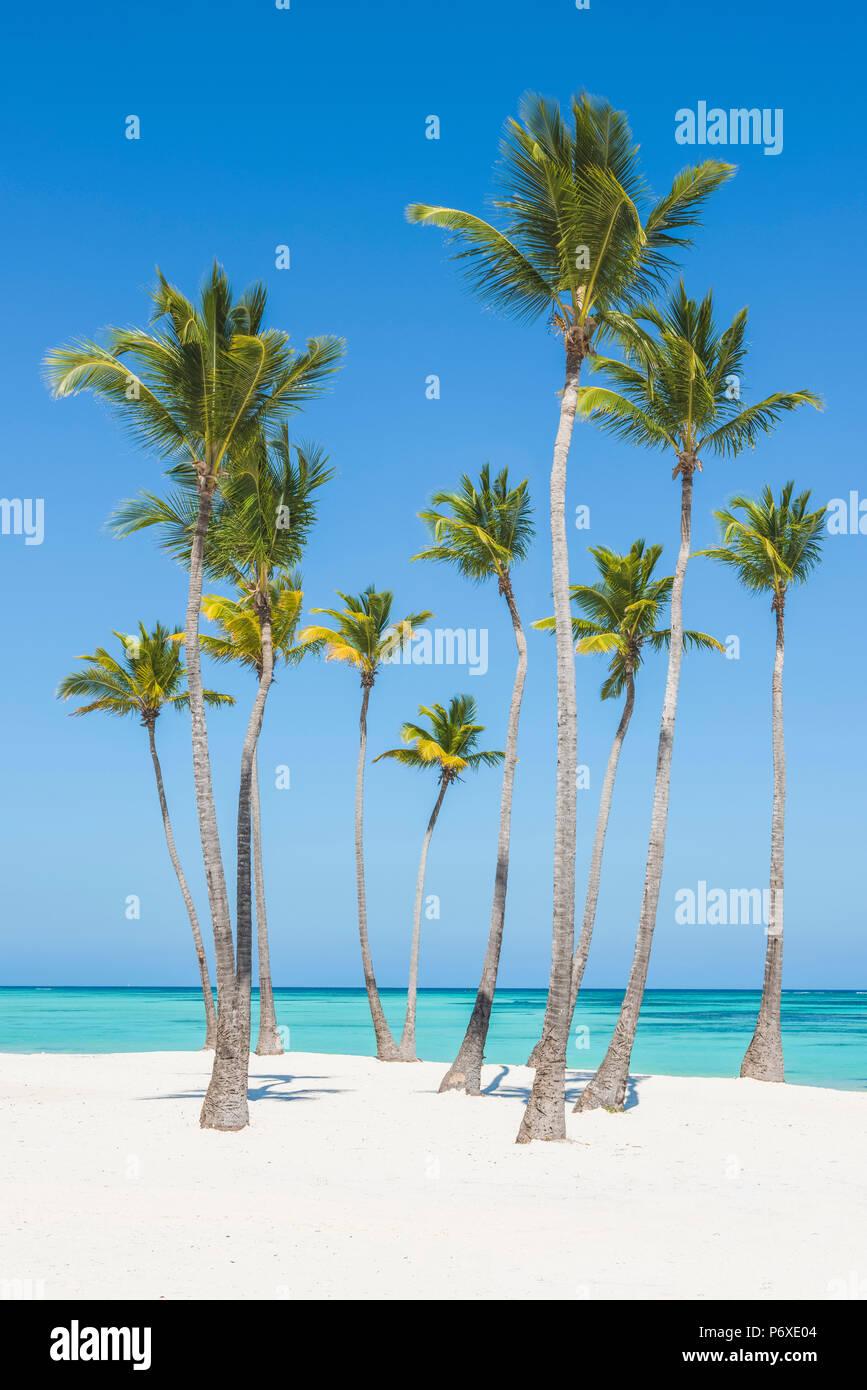 Spiaggia Juanillo (playa Juanillo), Punta Cana, Repubblica Dominicana. Immagini Stock