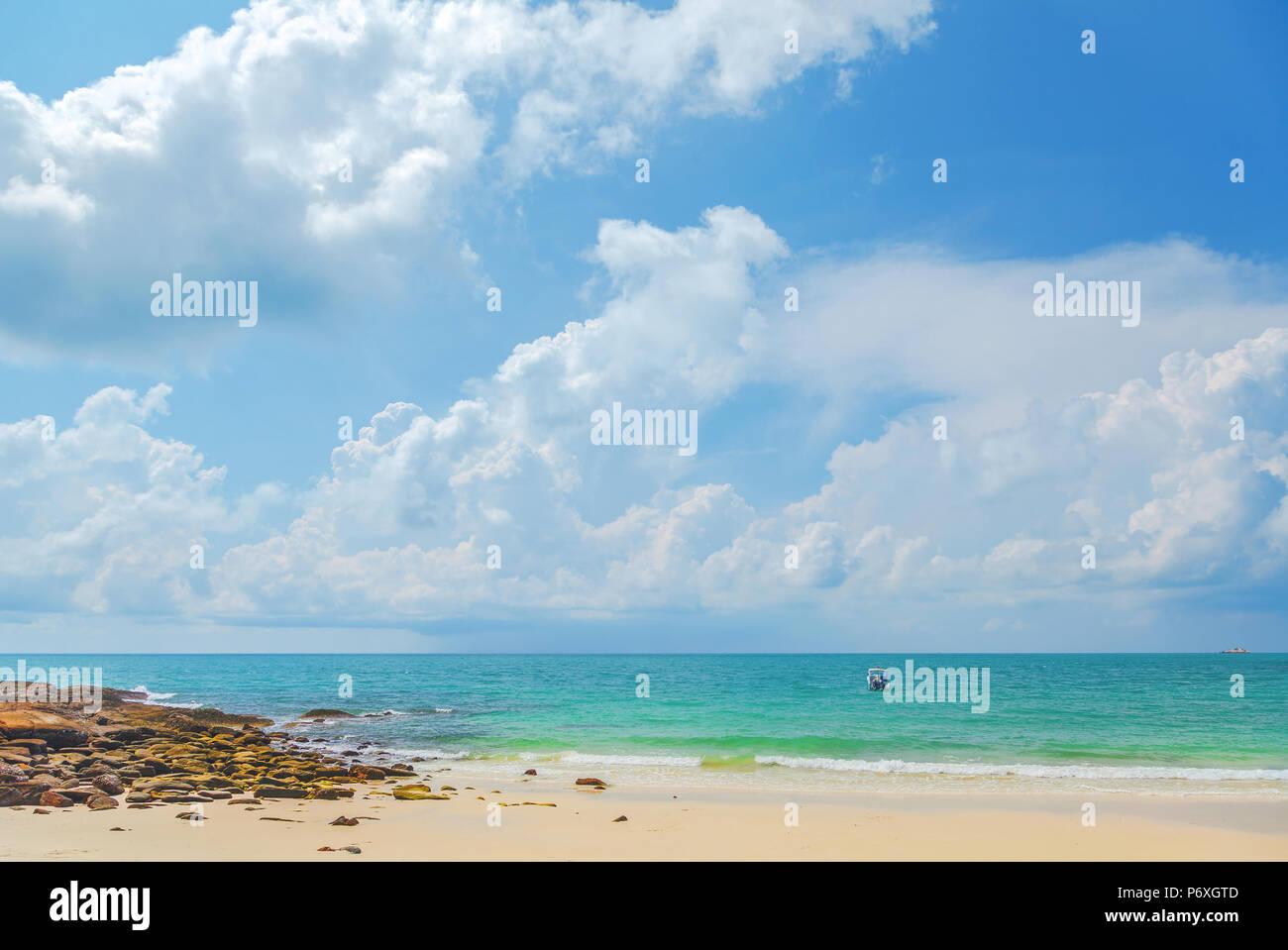 Ao onirico Cho sulla spiaggia di Koh Samed in Thailandia. Immagini Stock