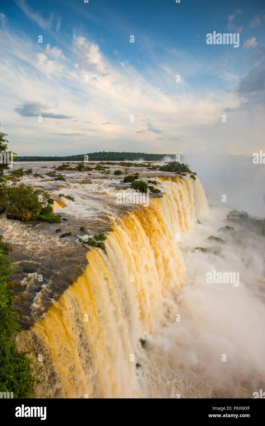 Cascate Iguacu, Stato di Parana, Brasile Foto Stock