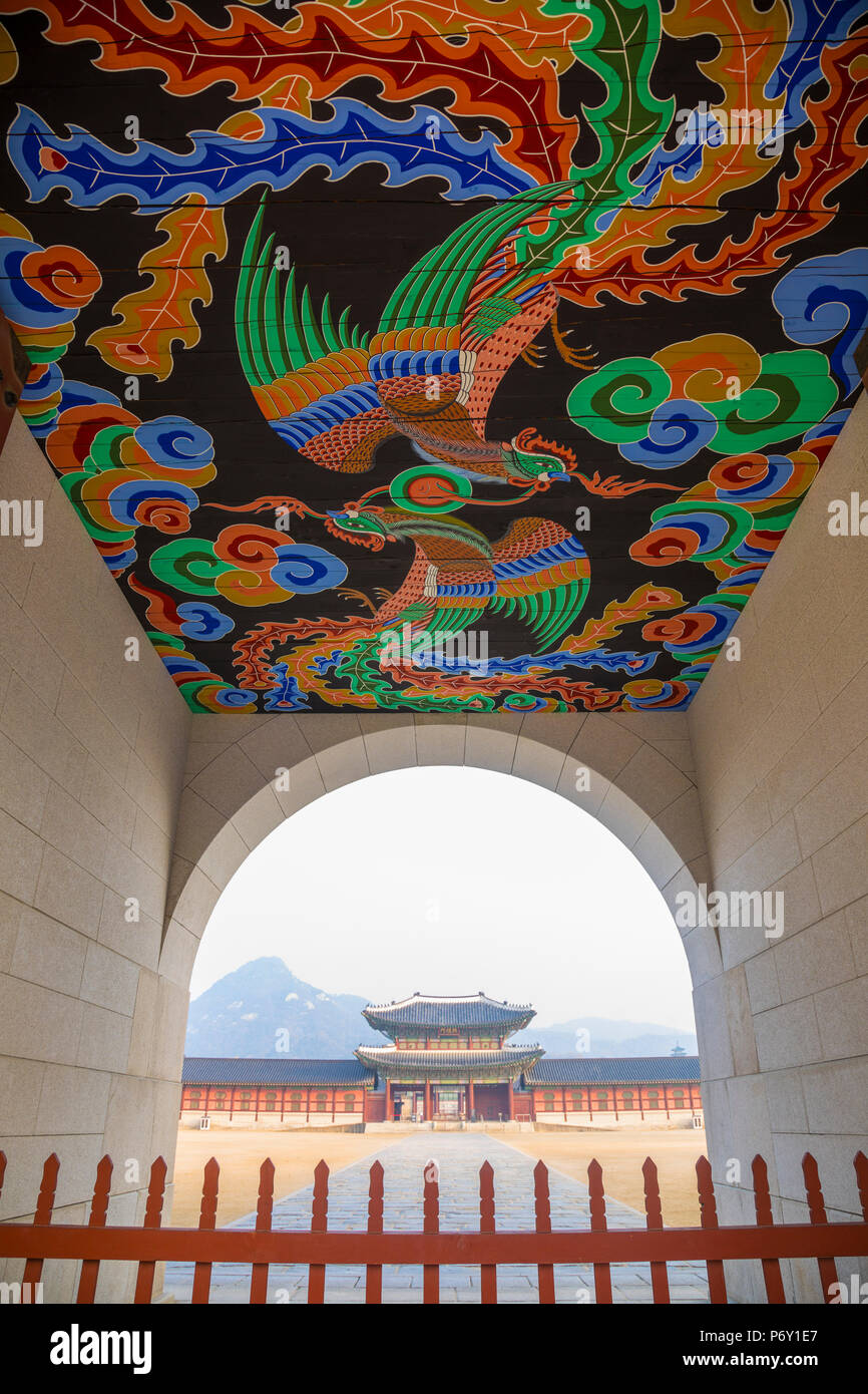 Il Palazzo Gyeongbokgung, Seoul, Corea del Sud Immagini Stock