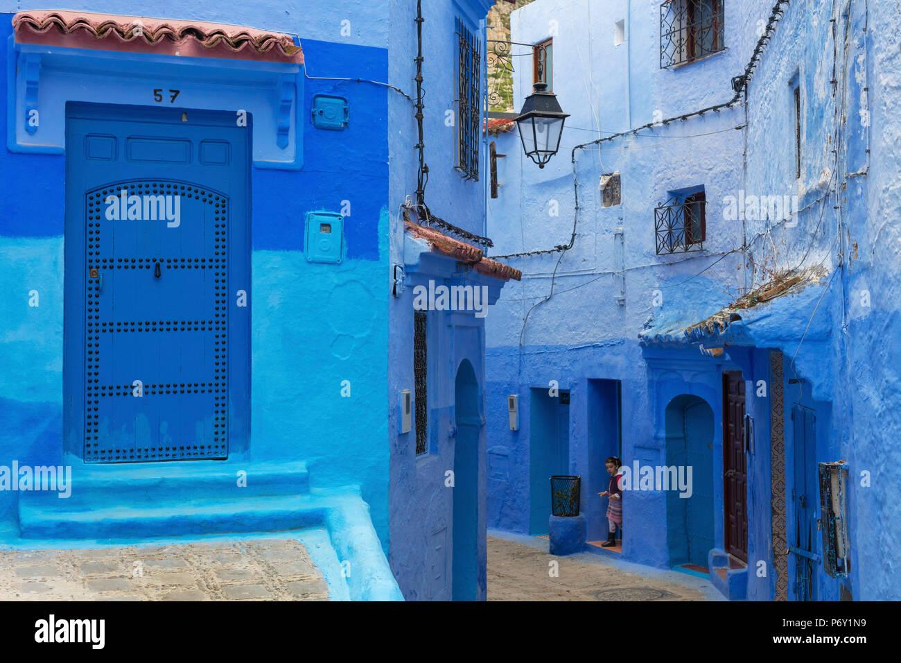 Medina, città vecchia, Chefchaouen, Chaouen, Marocco Immagini Stock