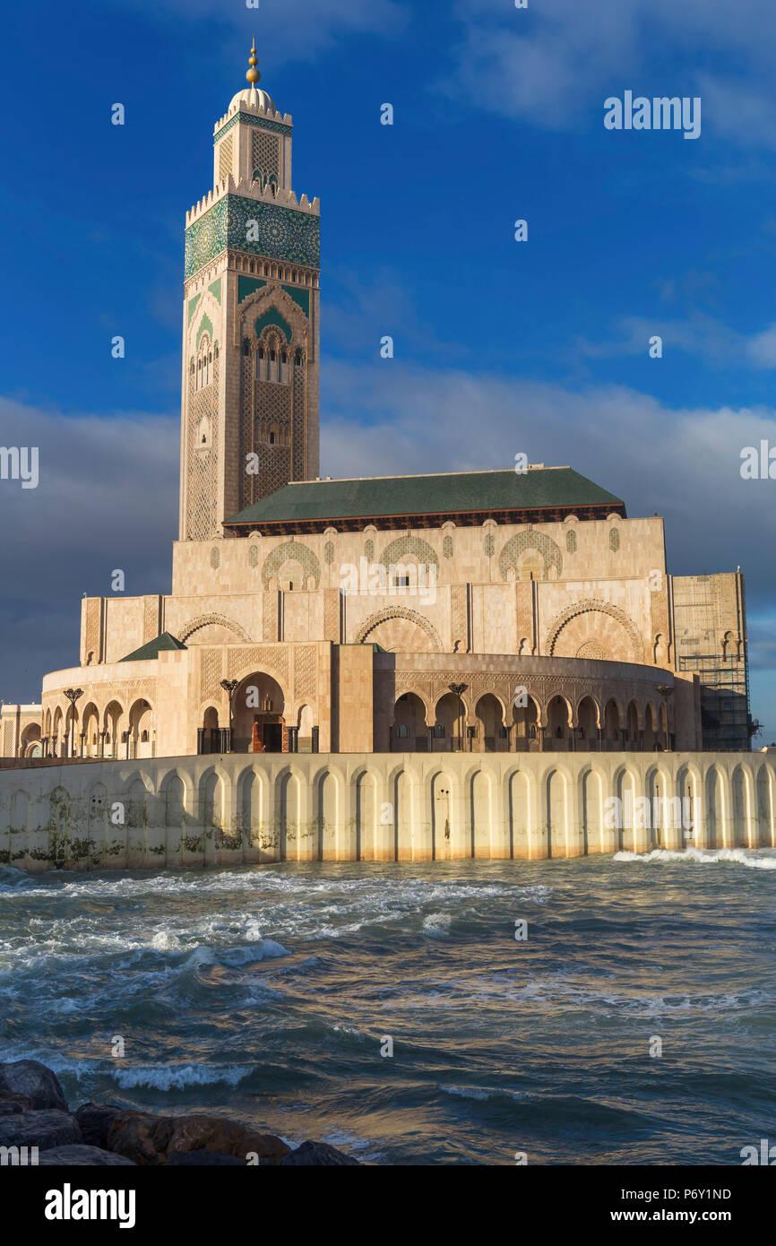 Moschea di Hassan II (1986-1993), Casablanca, Marocco Immagini Stock