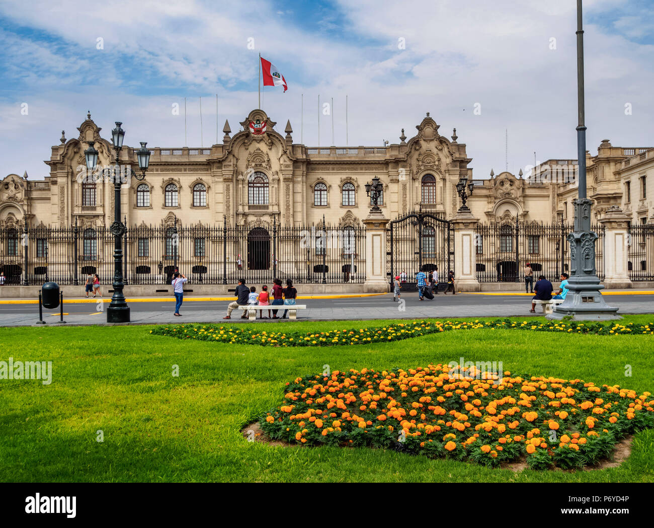 Palazzo del Governo, Plaza de Armas, Lima, Peru Immagini Stock
