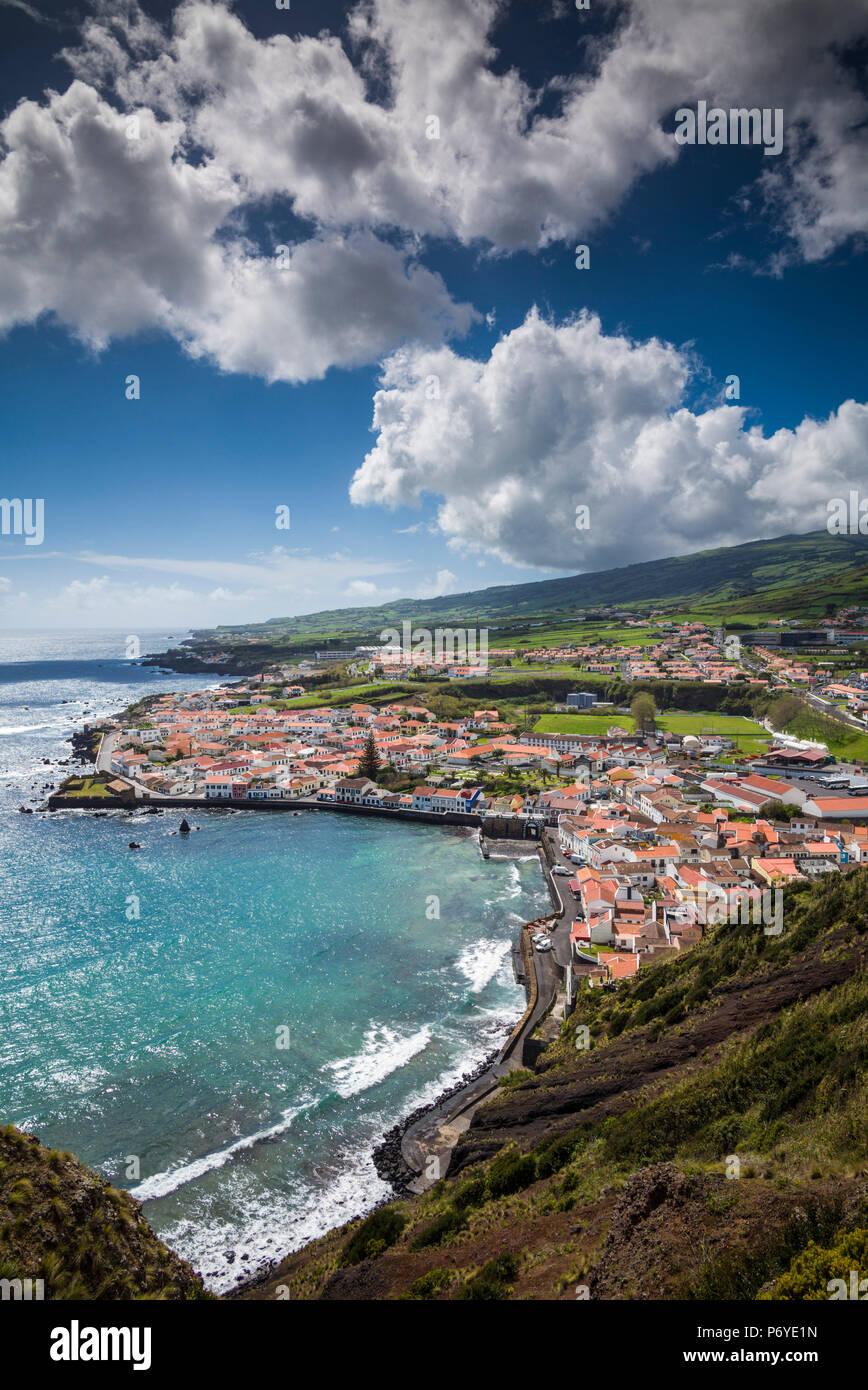 Portogallo Azzorre, l'isola di Faial, Horta, il vecchio porto di Porto Pim Immagini Stock
