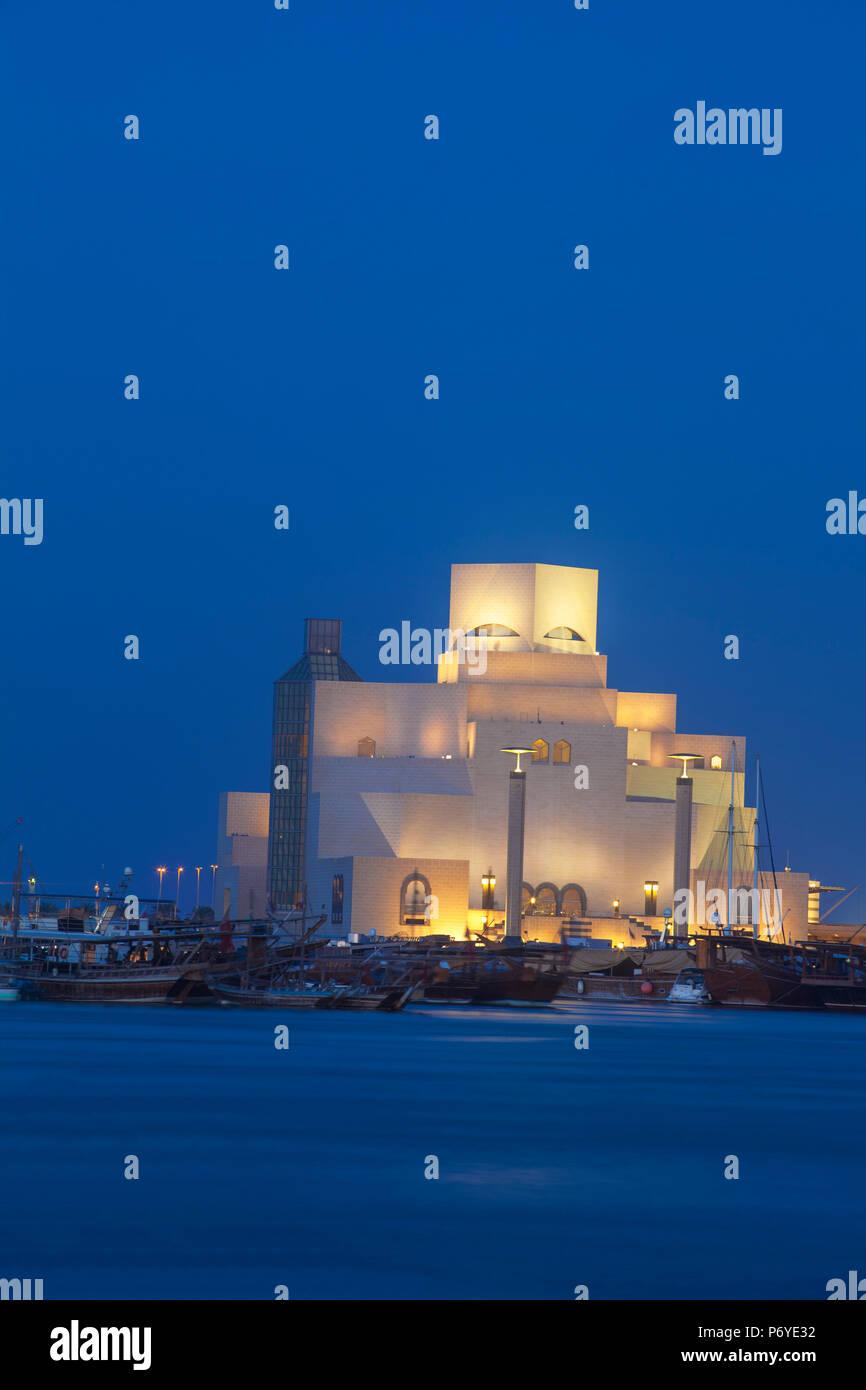 Il Qatar Doha, il Museo di Arte islamica Immagini Stock