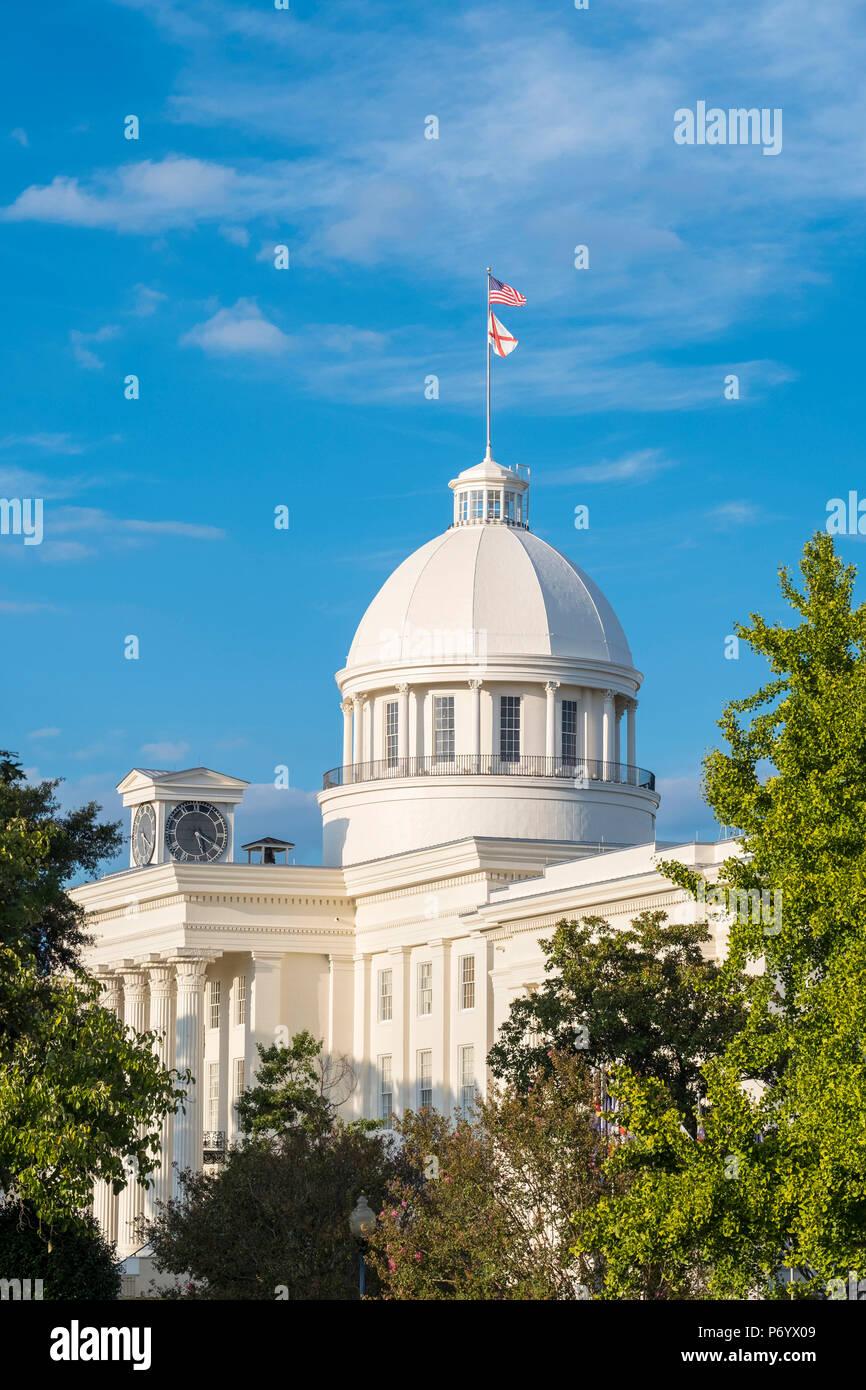 "Stati Uniti, Alabama, Montgomery. Alabama State Capitol Building, ex Primo Campidoglio confederati, costruito 1850â€""51. Foto Stock"