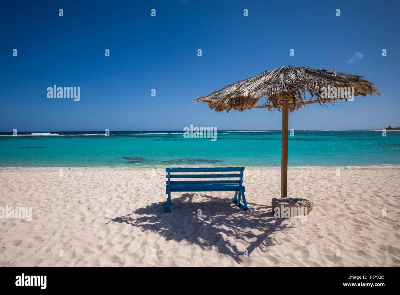 Isole Vergini Britanniche, Anegada, Loblolly Bay Beach, spiaggia vista Immagini Stock