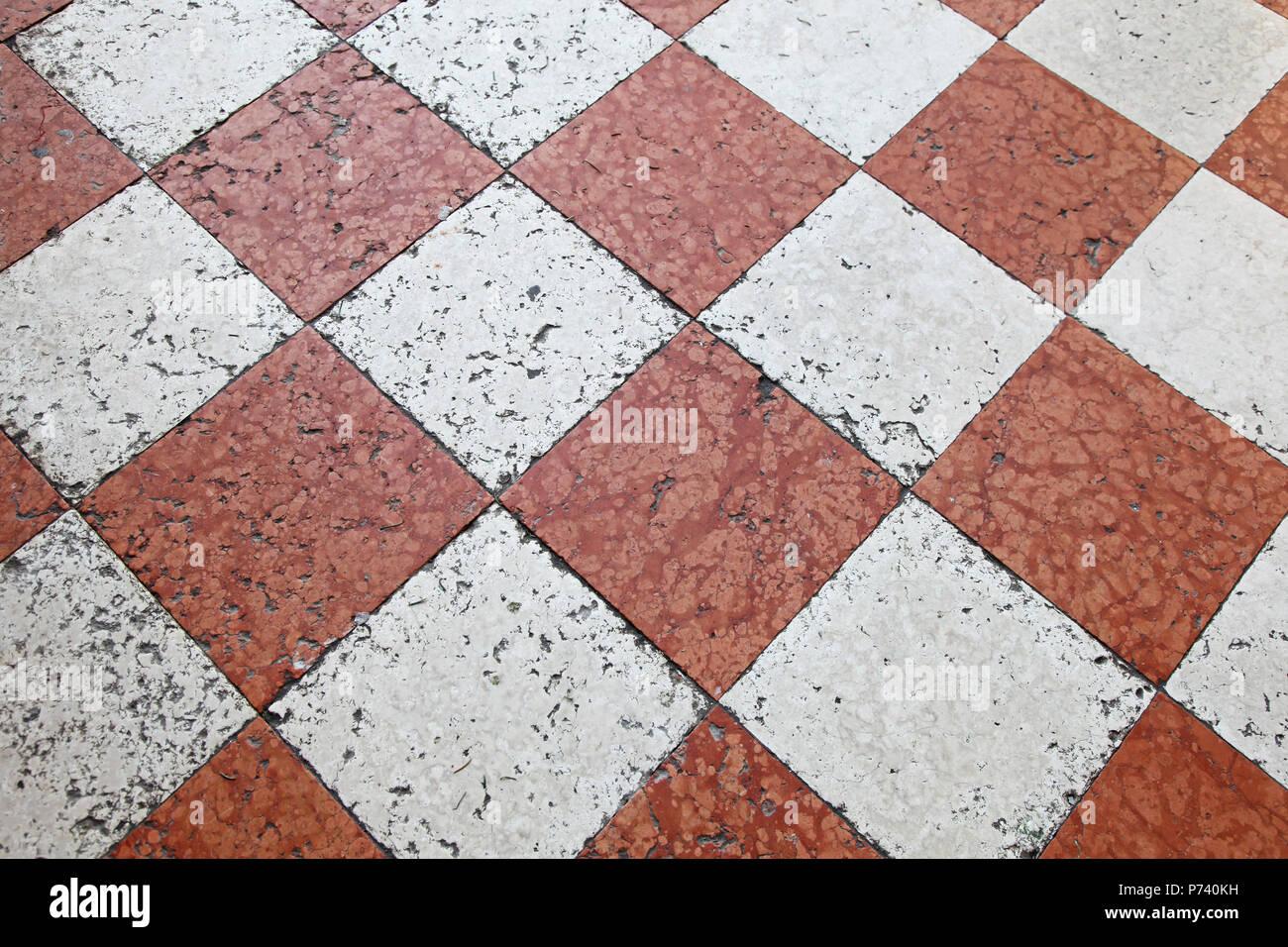 Medievale a scacchi in marmo piastrelle per pavimento in venezia