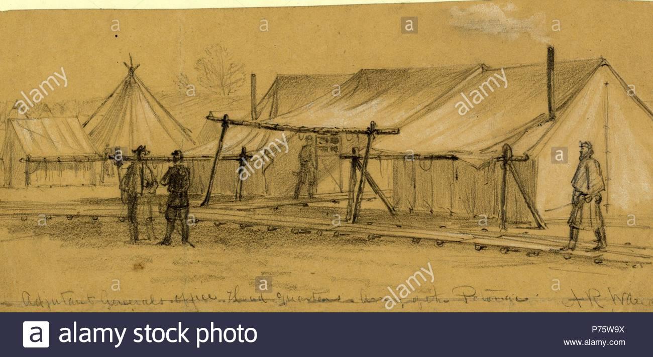 Capo Ufficio Disegno : Laiutante generali capo ufficio quarti esercito del potomac 1863