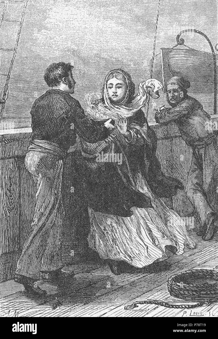 Inglese: una illustrazione da Jules Verne è 'racconto un inverno ...
