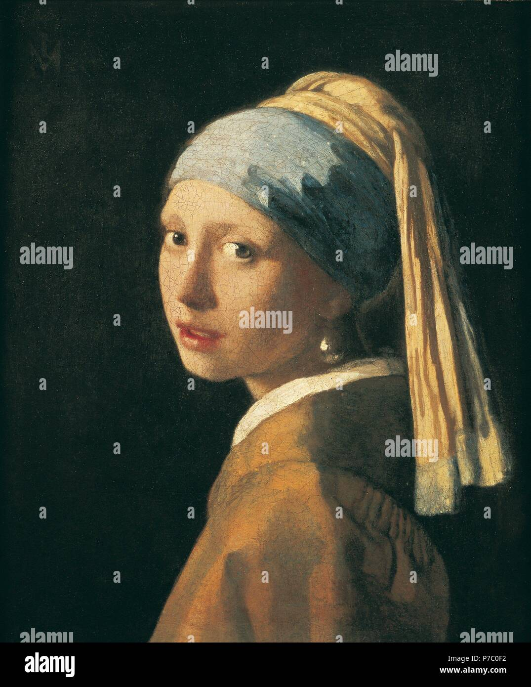 Muchacha con turbante/1660-5. Museo: MAURITSHUIS / LA HAYA / HOLANDA. Immagini Stock
