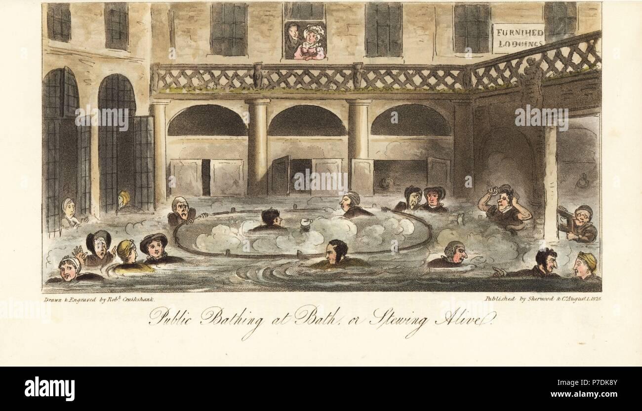 Bath Vasca Da Bagno In Inglese : Regency di uomini e donne in flanella di accappatoi e berretti di