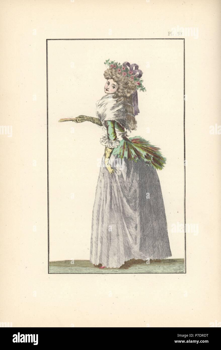 Donna in taffettà pierrot caraco camicia 1578943e20b9