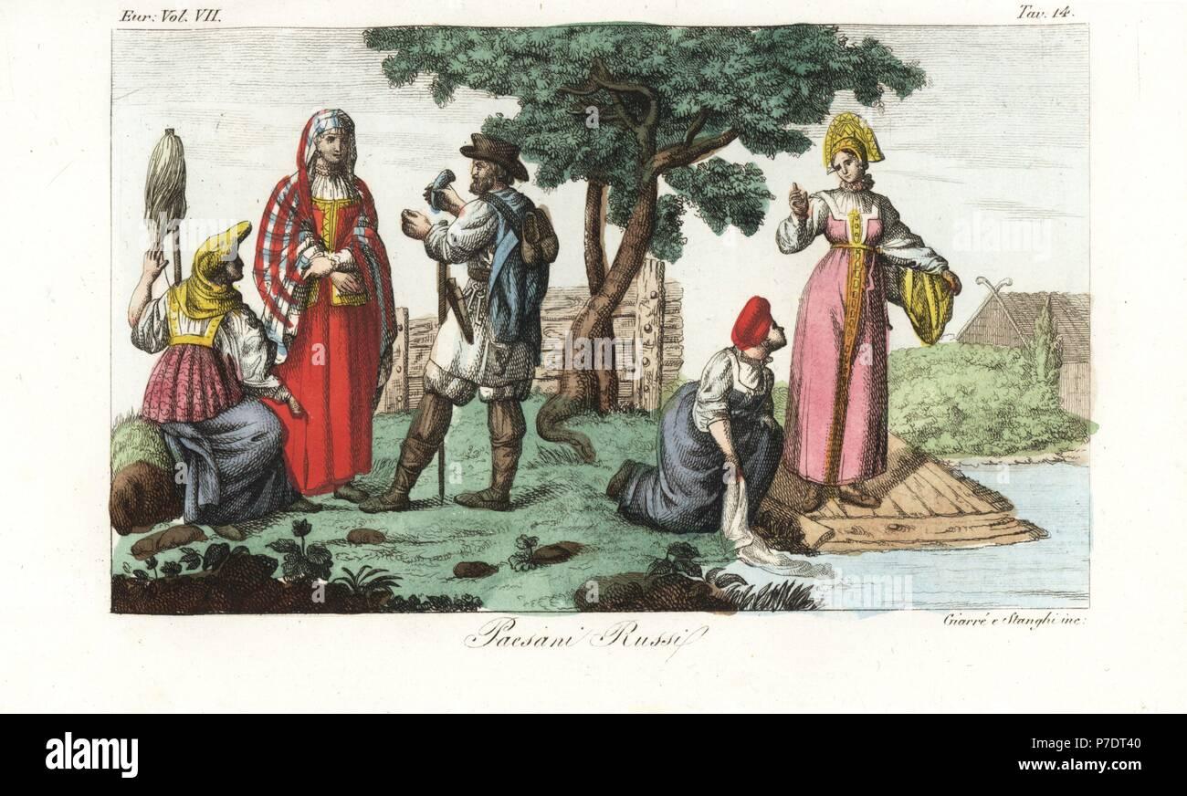 Il russo servi della gleba o contadini. Un contadino in abiti da viaggio con  hat a6cbc9ae9390
