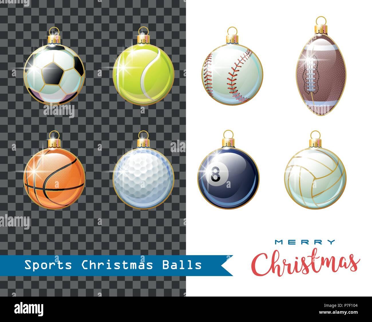 Auguri Di Natale Per Sportivi.Auguri Di Buon Natale Raccolta Di Diversi Sport Palle Di Natale Per I Vostri Lavori Creativi Illustrazione Vettoriale Immagine E Vettoriale Alamy