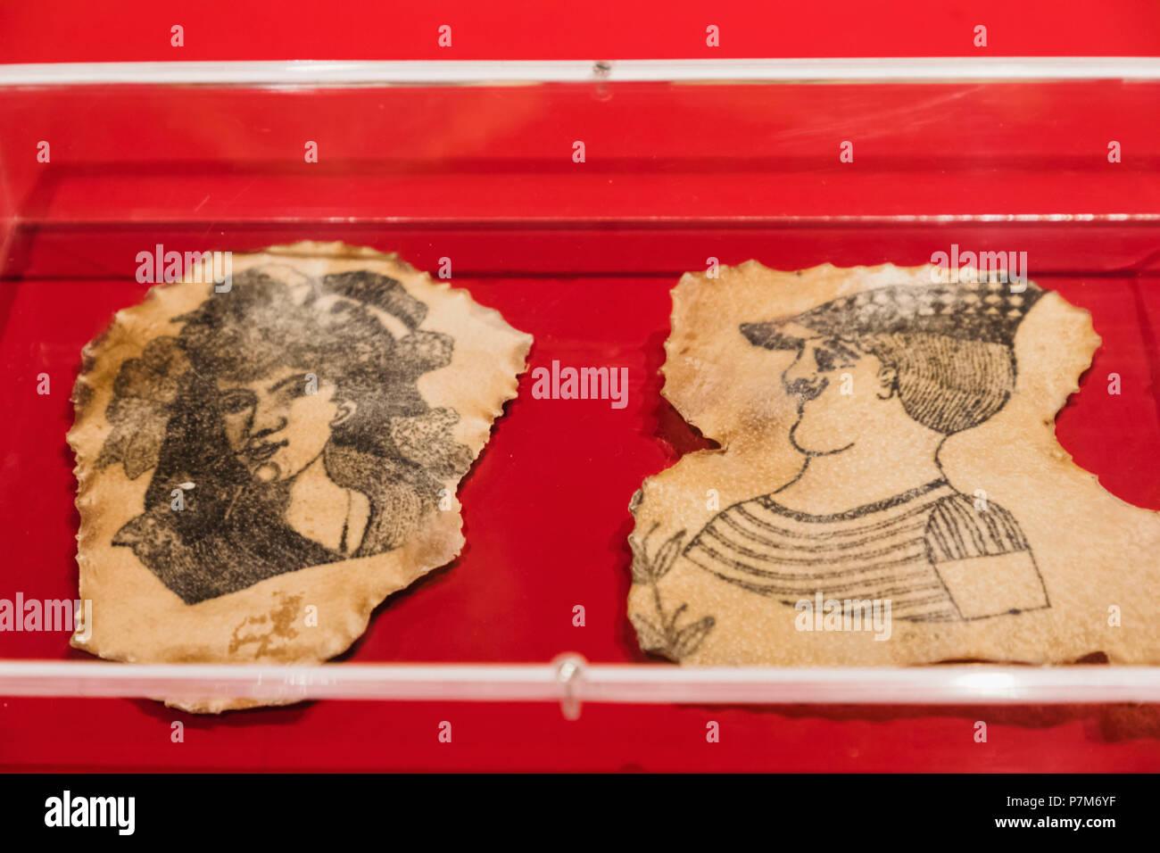 Inghilterra, Londra, la Wellcome Collection, presentano dei tatuaggi sulla pelle umana 1850-1900 Francese Immagini Stock