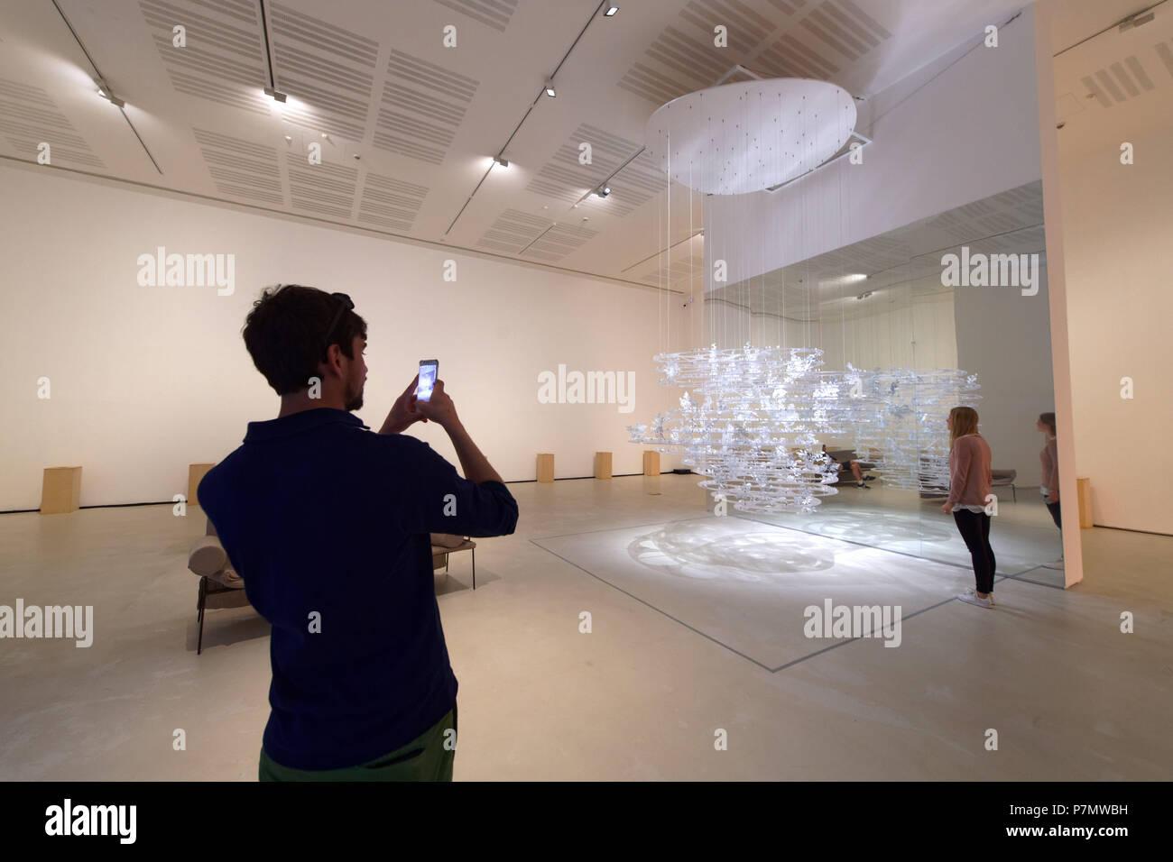 Italia Lazio Roma, MAXXI, Museo delle Arti del XXI secolo, XXI secolo al museo delle Belle Arti progettato dall'architetto Zaha Hadid Immagini Stock