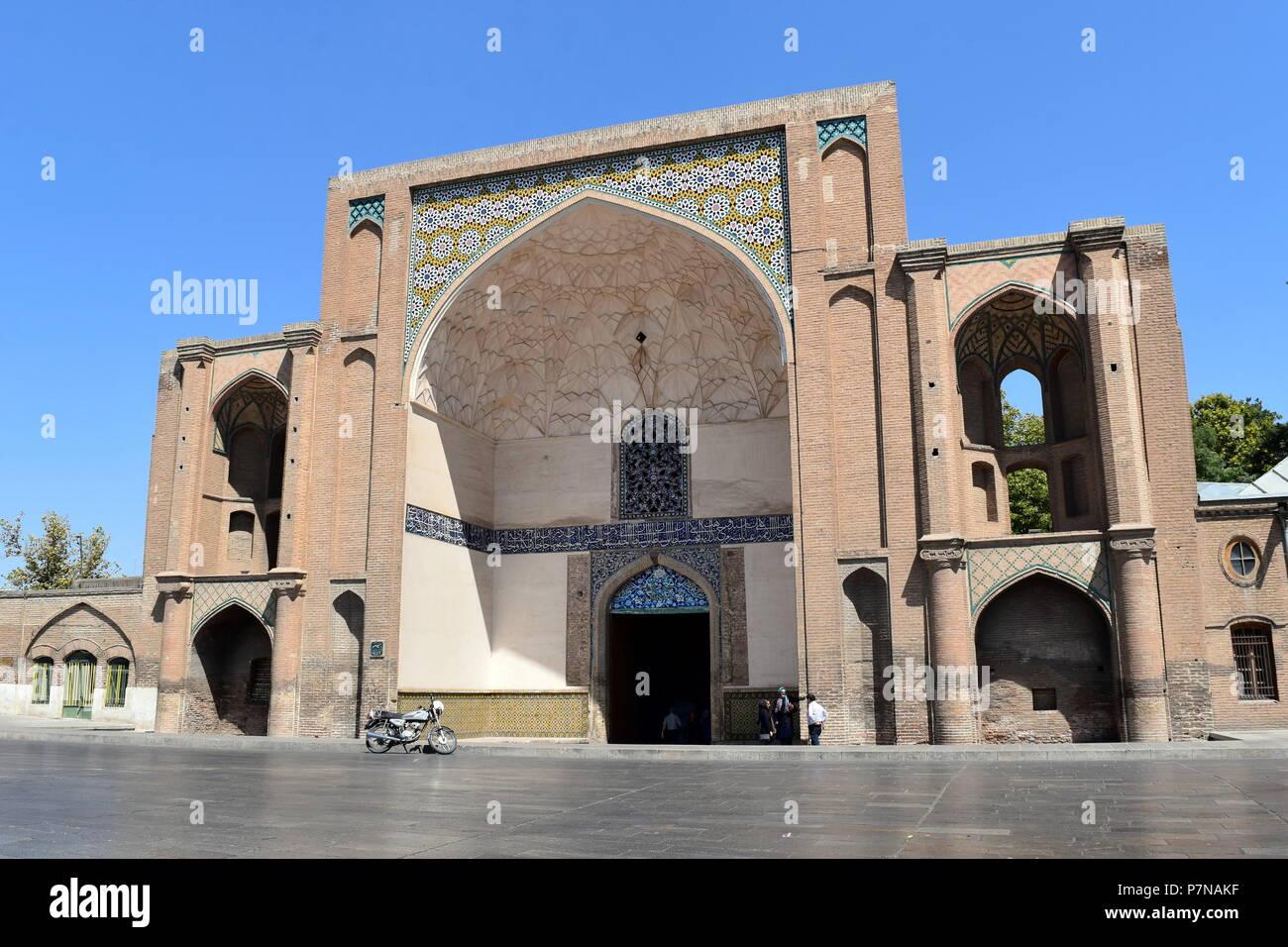Iran gate storico iwan: bella iraniano e Architettura islamica a Qazvin, Iran Immagini Stock
