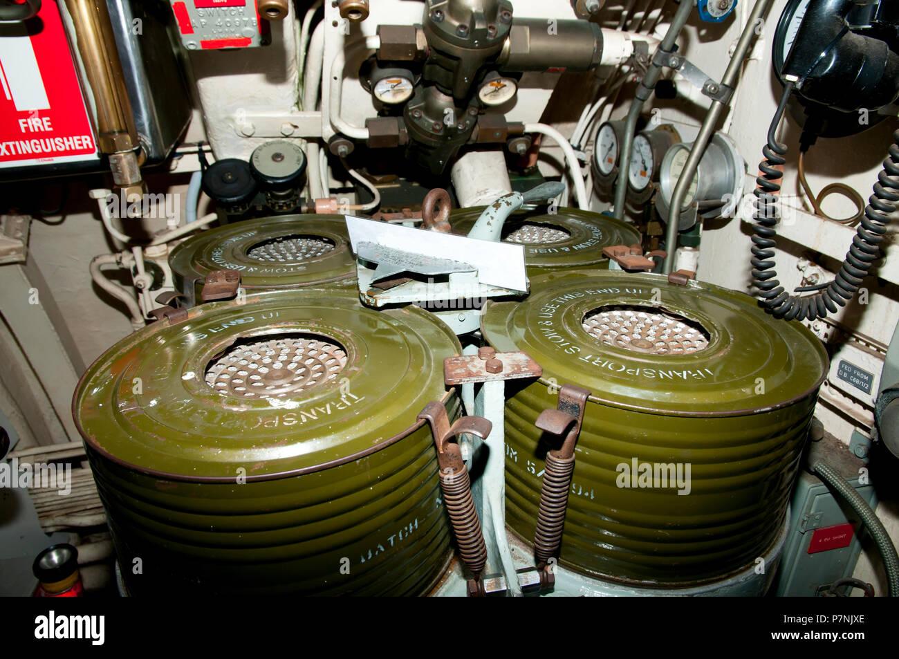 Il biossido di carbonio Scrubbers Immagini Stock