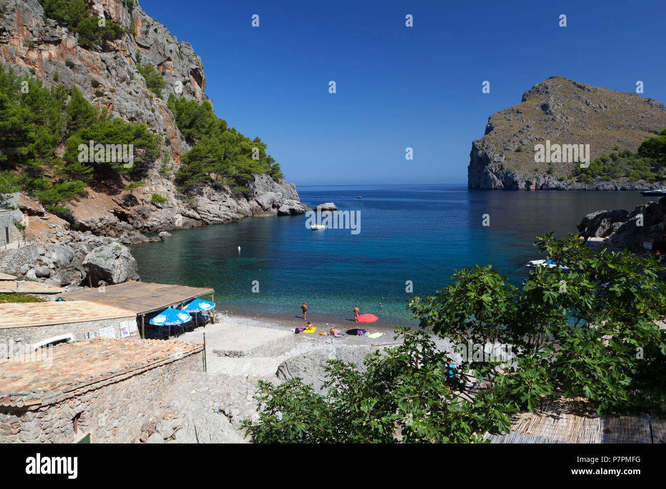 Vista della spiaggia di Sa Calobra sull isola di Maiorca Immagini Stock