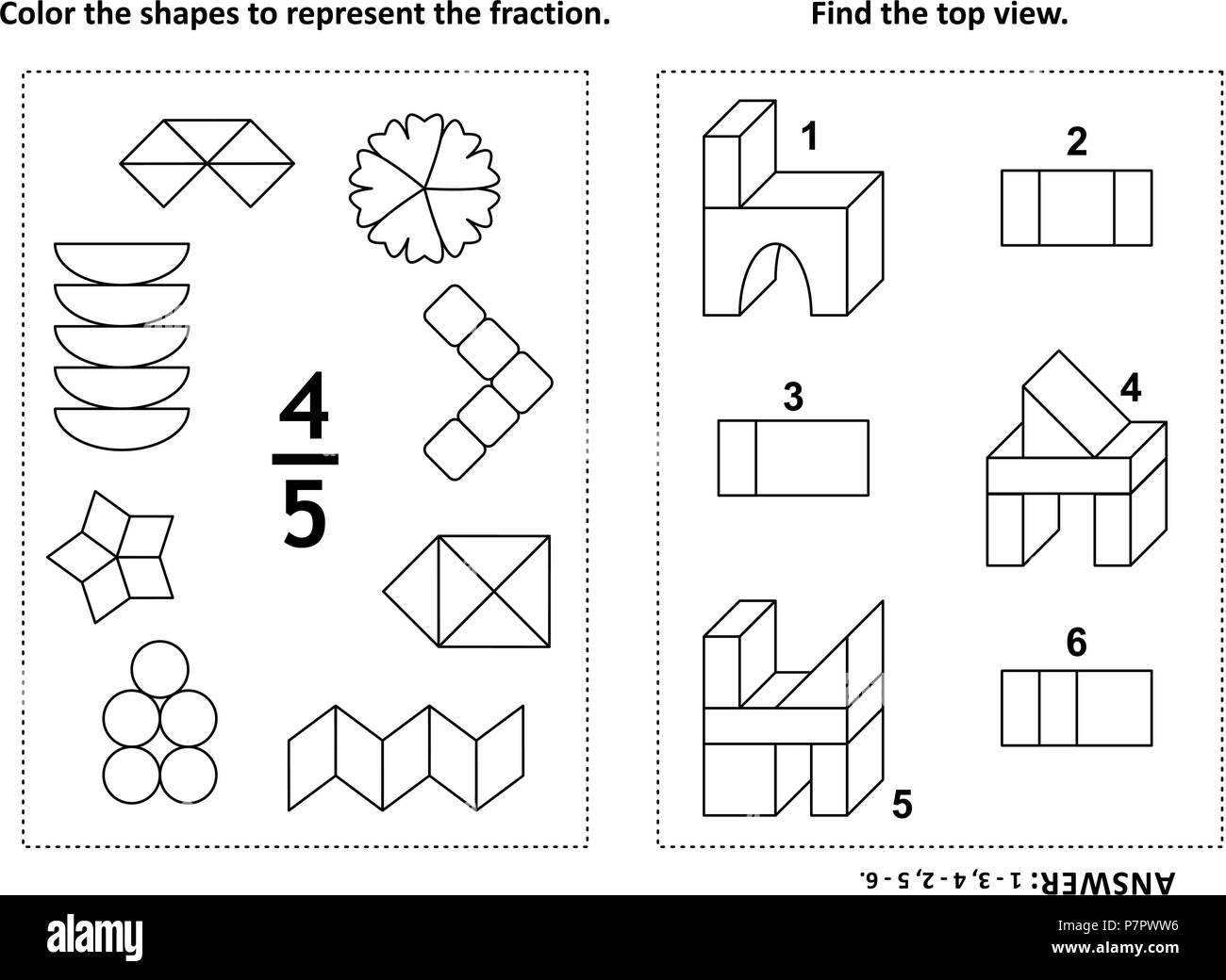 Due visual math puzzle e pagine da colorare il colore - Colorare le pagine per colore ...