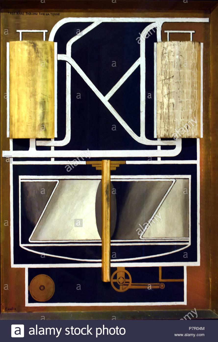 Pittura rarissima sulla terra 1915 Francis Picabia 1879 - 1953 Francia - Francese Immagini Stock