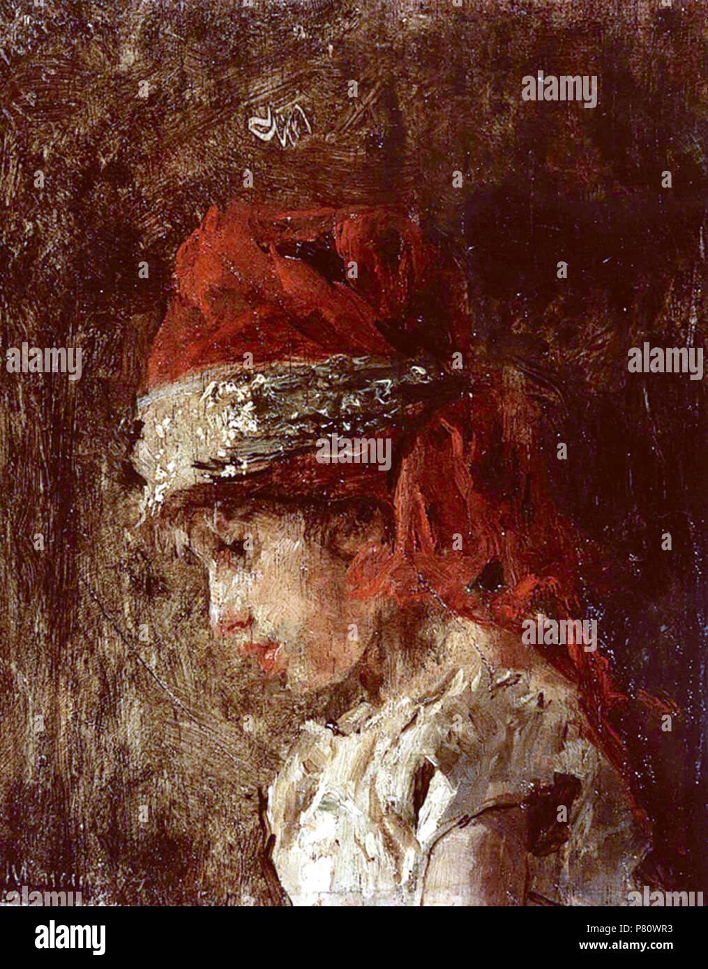 Luigiello con turbante . 1878 252 Luigiello con turbante mancini Immagini Stock