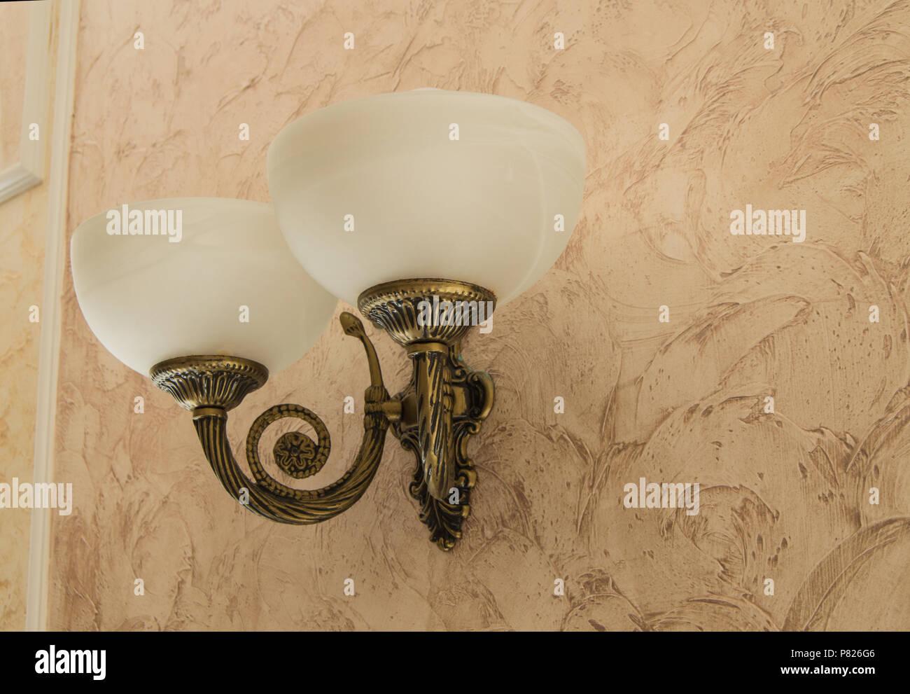 Lampada Vintage Da Parete : Vintage elegante lampada da parete con bronzo o con finitura in