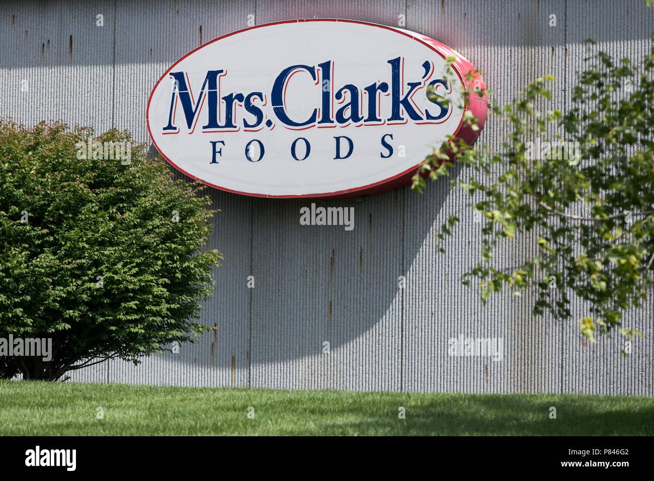 Un segno del logo al di fuori di una struttura occupata dalla sig.ra Clark cibi in Ankeny, Iowa, il 30 giugno 2018. Immagini Stock