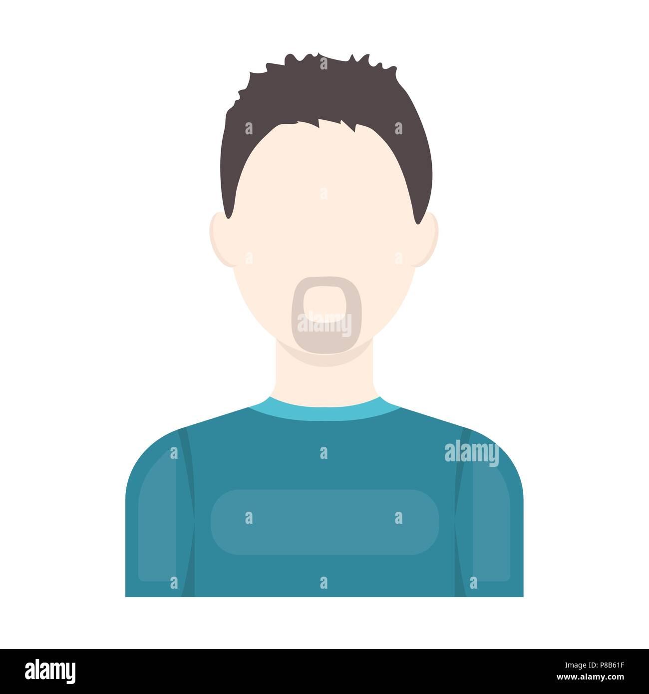 Con barba icona cartoon avatar unico peaople icona da grandi