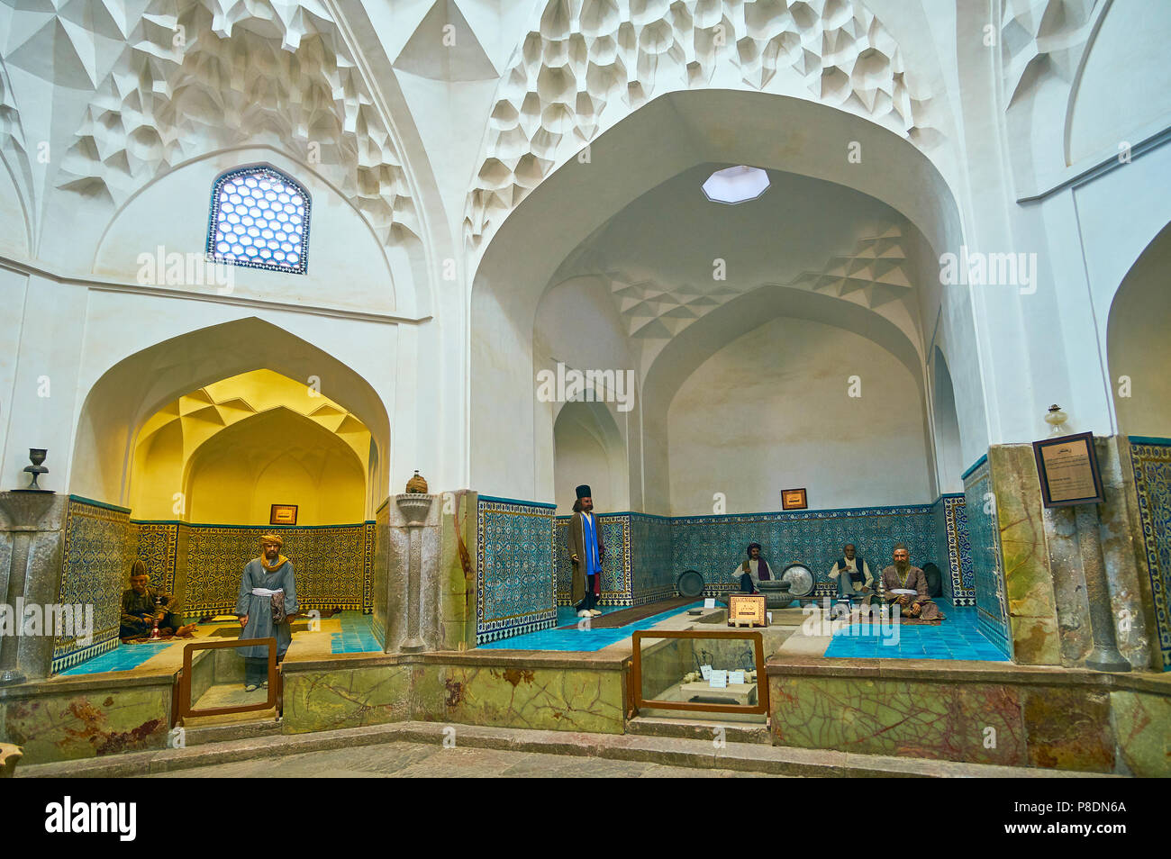 Kerman iran 15 ottobre 2017: hammam e ganjali khan bathhouse