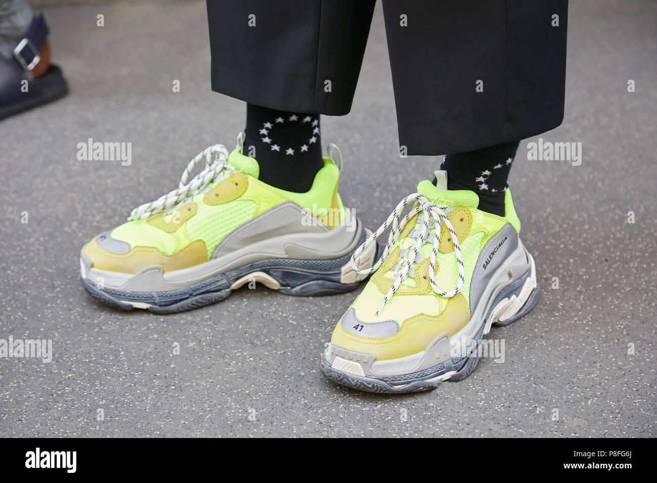 E con Milán16 Balenciaga verde zapatos de junioHombre amarillo nP0kw8OX